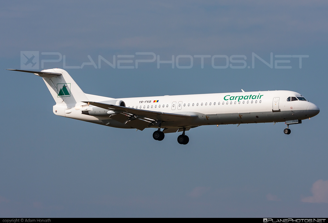 Fokker 100 - YR-FKB operated by Carpatair #fokker