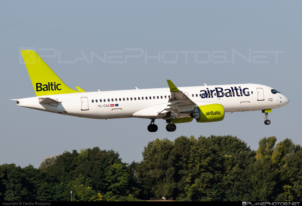 Bombardier BD-500-1A11 C Series CS300 - YL-CSA operated by Air Baltic #airbaltic #bombardier #cs300 #cseries #cseries300