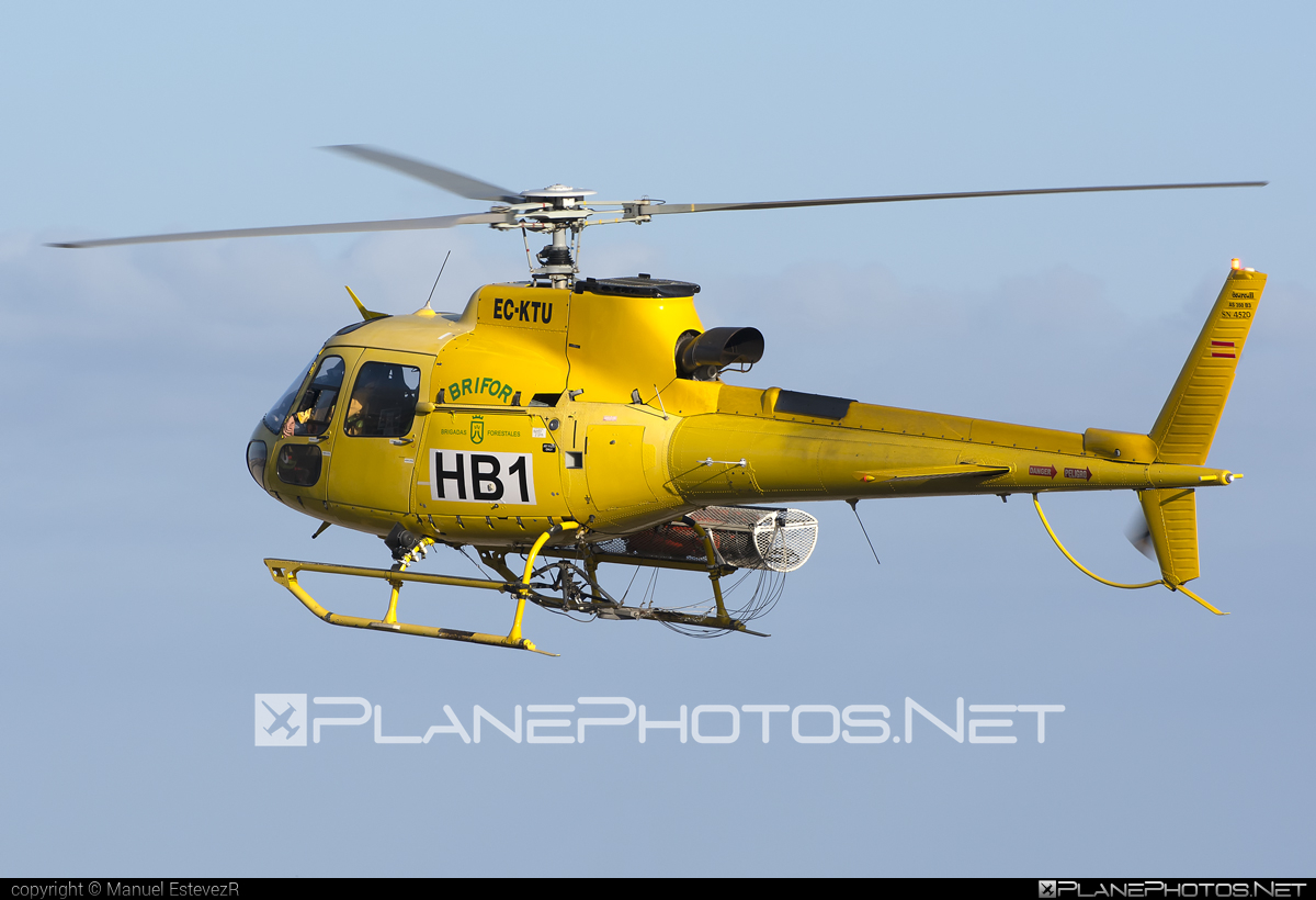 Eurocopter AS350 B3 Ecureuil - EC-KTU operated by TAF Helicopters #eurocopter