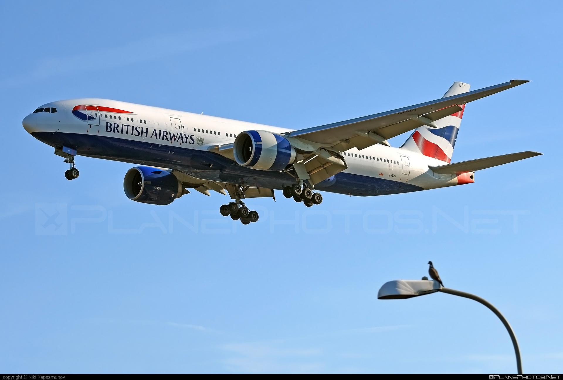 British Airways Boeing 777-200ER - G-VIIV #b777 #b777er #boeing #boeing777 #britishairways #tripleseven