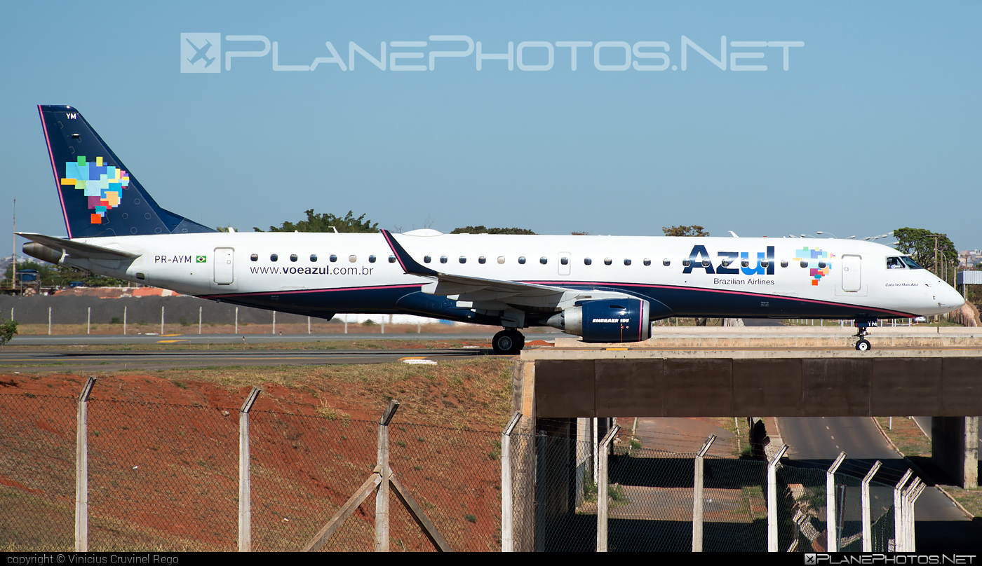 Embraer 190-200IGW - PR-AYM operated by Azul Linhas Aéreas Brasileiras #e195 #embraer #embraer195 #embraer195igw