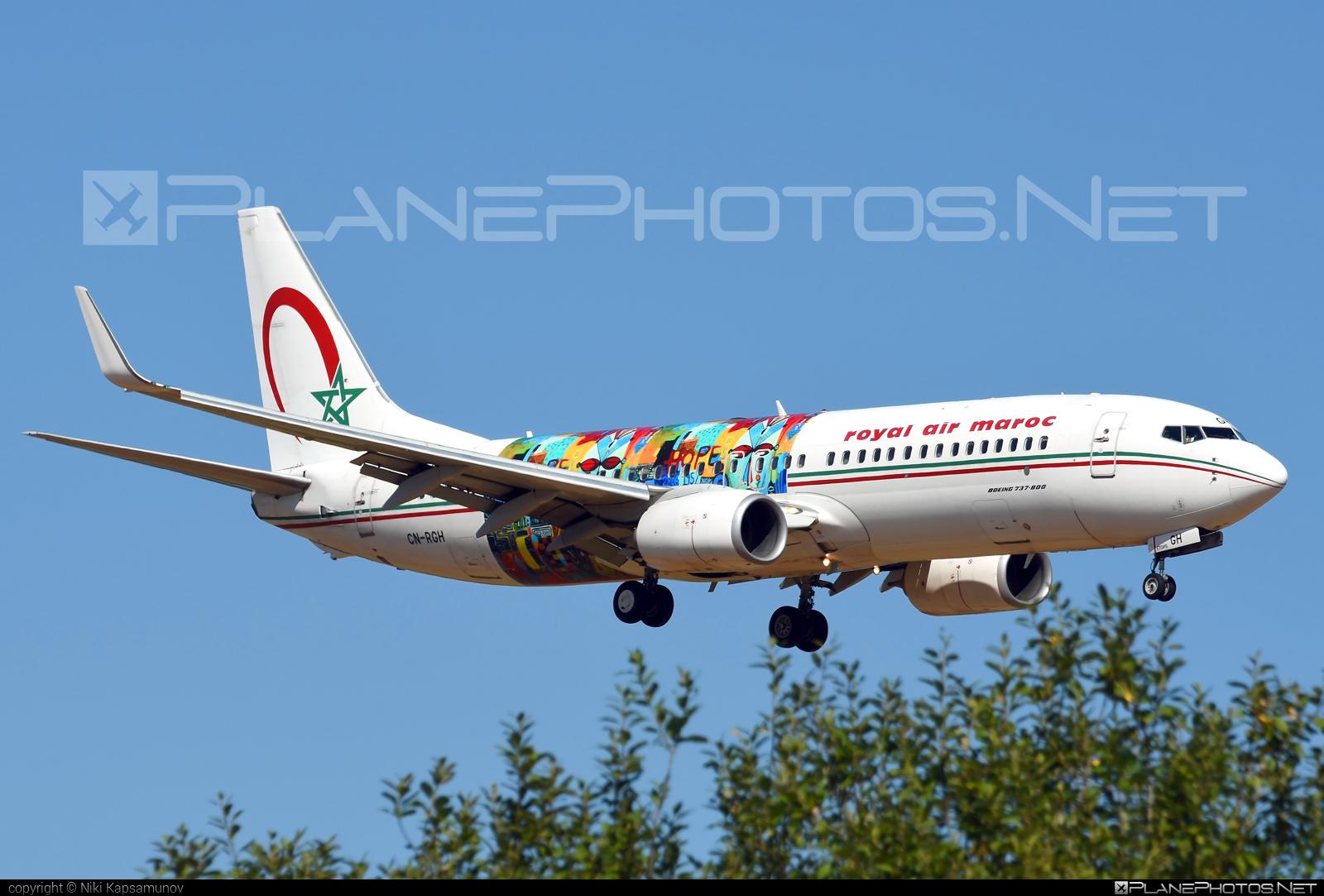 Boeing 737-800 - CN-RGH operated by Royal Air Maroc (RAM) #b737 #b737nextgen #b737ng #boeing #boeing737 #royalairmaroc