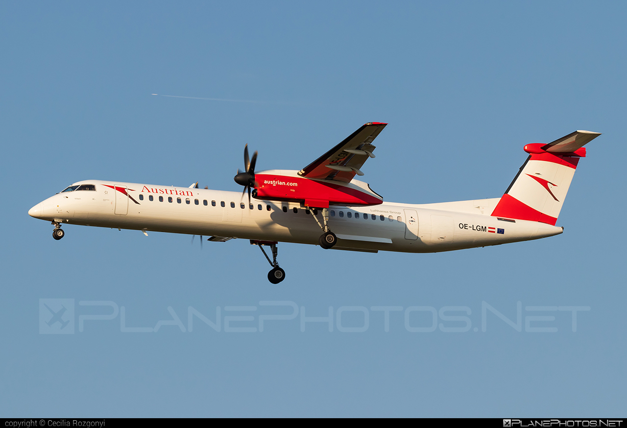 Bombardier DHC-8-Q402 Dash 8 - OE-LGM operated by Austrian Airlines #bombardier