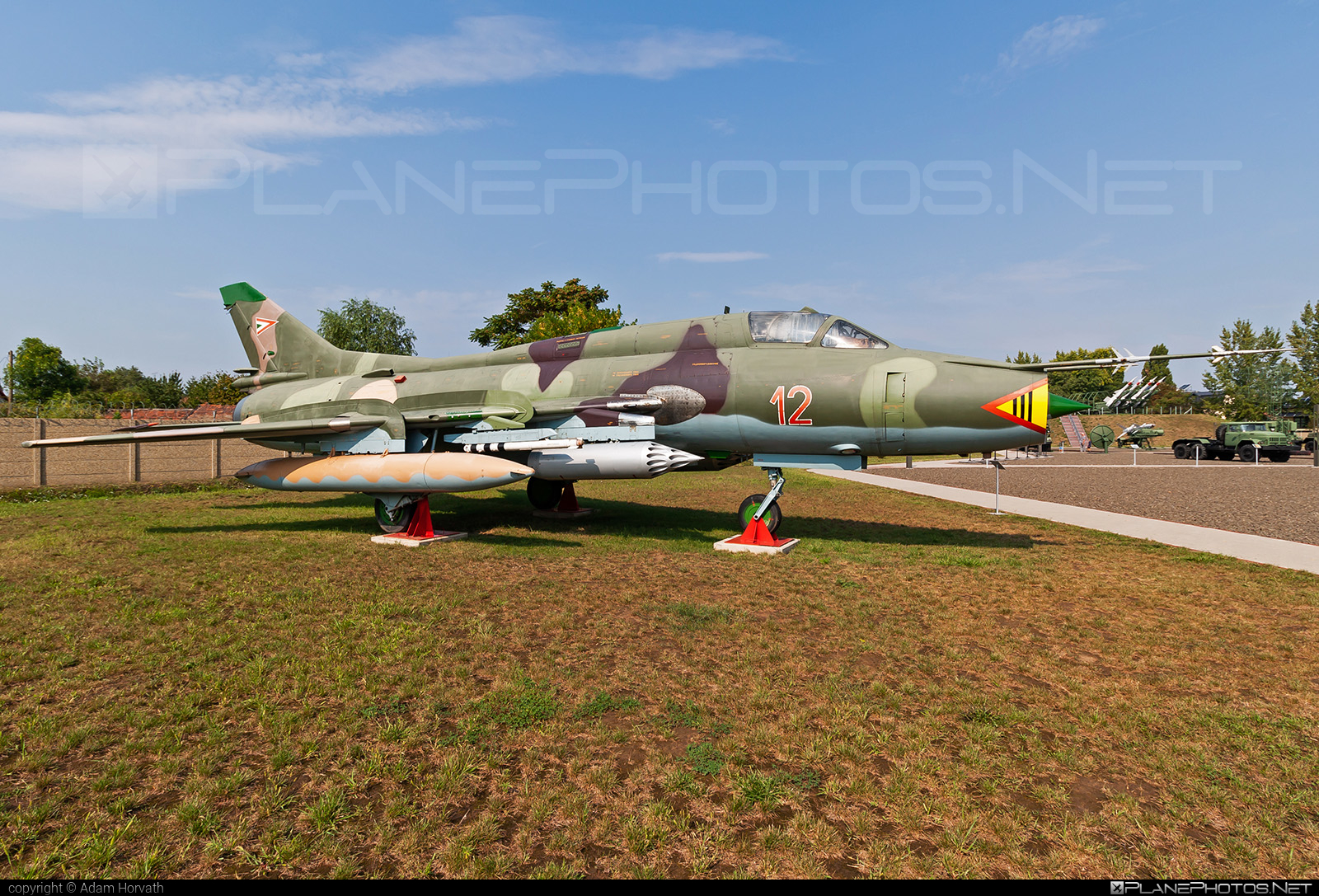 Sukhoi Su-22M3 - 12 operated by Magyar Légierő (Hungarian Air Force) #hungarianairforce #magyarlegiero #sukhoi