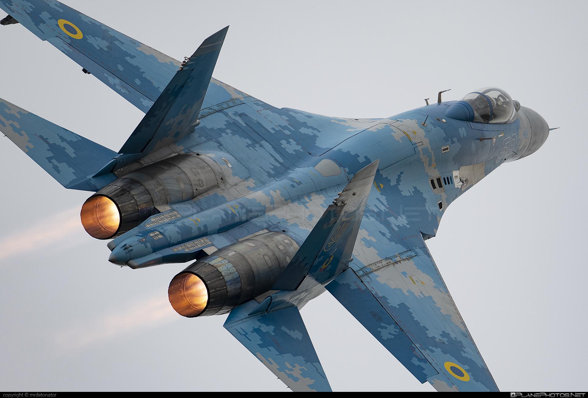 Sukhoi Su-27P - 58 operated by Povitryani Syly Ukrayiny (Ukrainian Air Force) #ciaf2018 #povitryanisylyukrayiny #su27 #su27p #sukhoi #sukhoi27 #ukrainianairforce