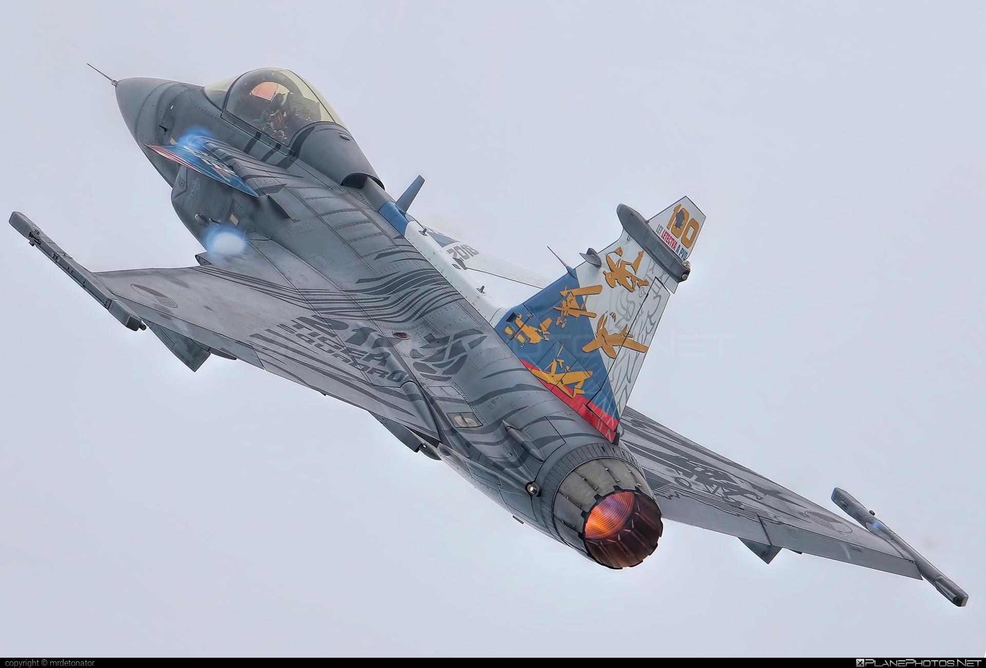 Saab JAS 39C Gripen - 9234 operated by Vzdušné síly AČR (Czech Air Force) #czechairforce #gripen #jas39 #jas39c #jas39gripen #radomairshow #radomairshow2018 #saab #vzdusnesilyacr