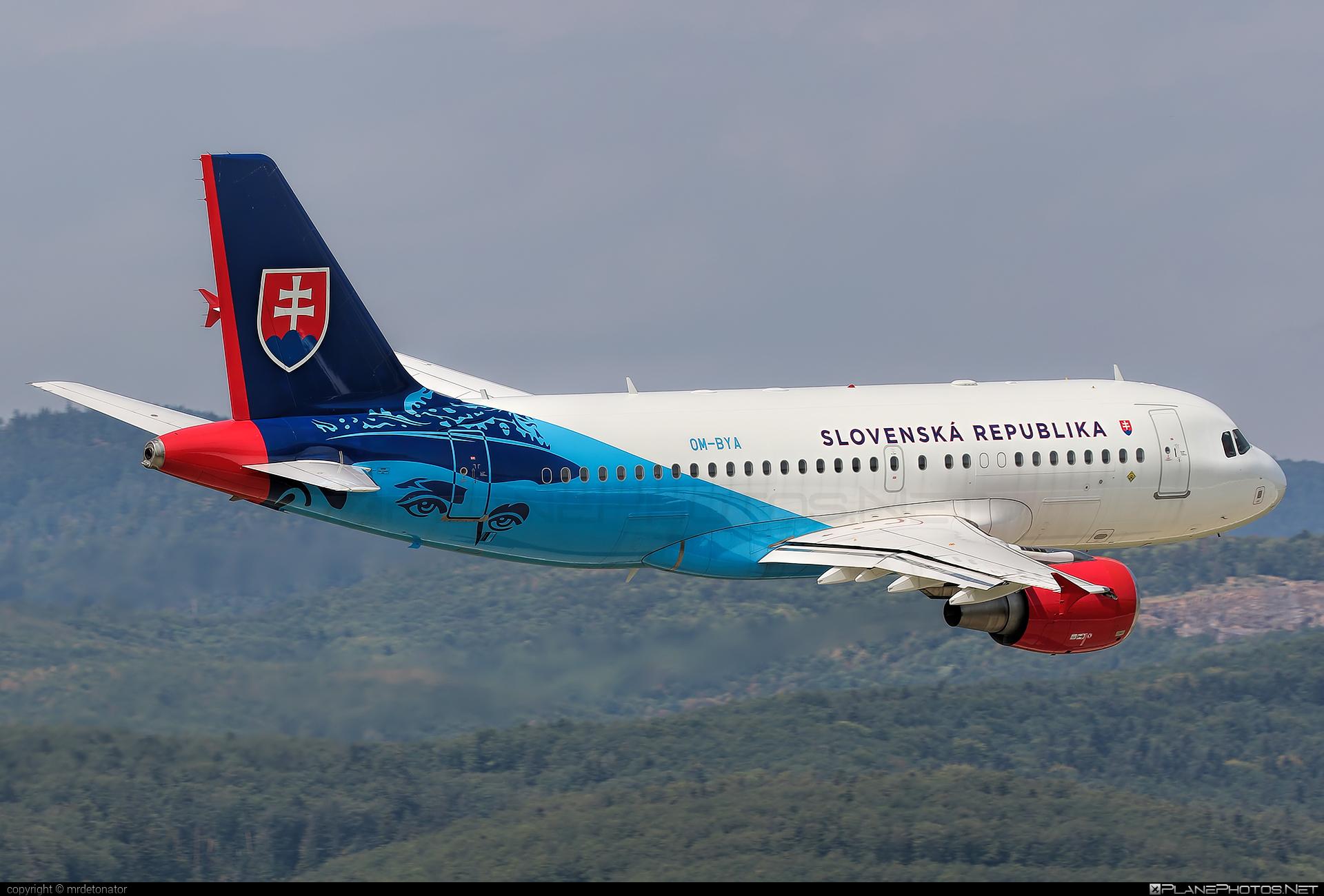 Letecký útvar MV SR (Slovak Government Flying Service) Airbus ACJ319-115 - OM-BYA #acj319 #acj319115 #airbus #airbuscorporatejet