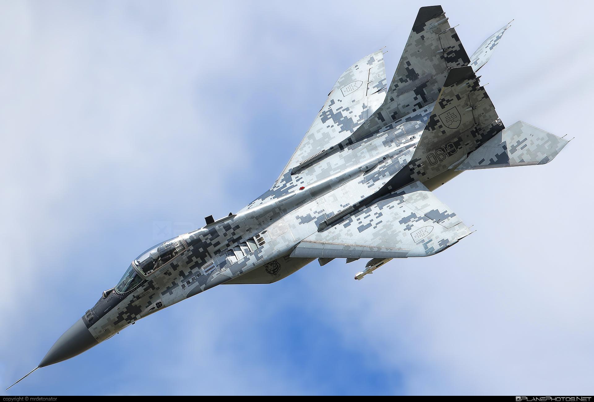 Vzdušné sily OS SR (Slovak Air Force) Mikoyan-Gurevich MiG-29AS - 0619 #mig #mig29 #mig29as #mikoyangurevich #slovakairforce #vzdusnesilyossr