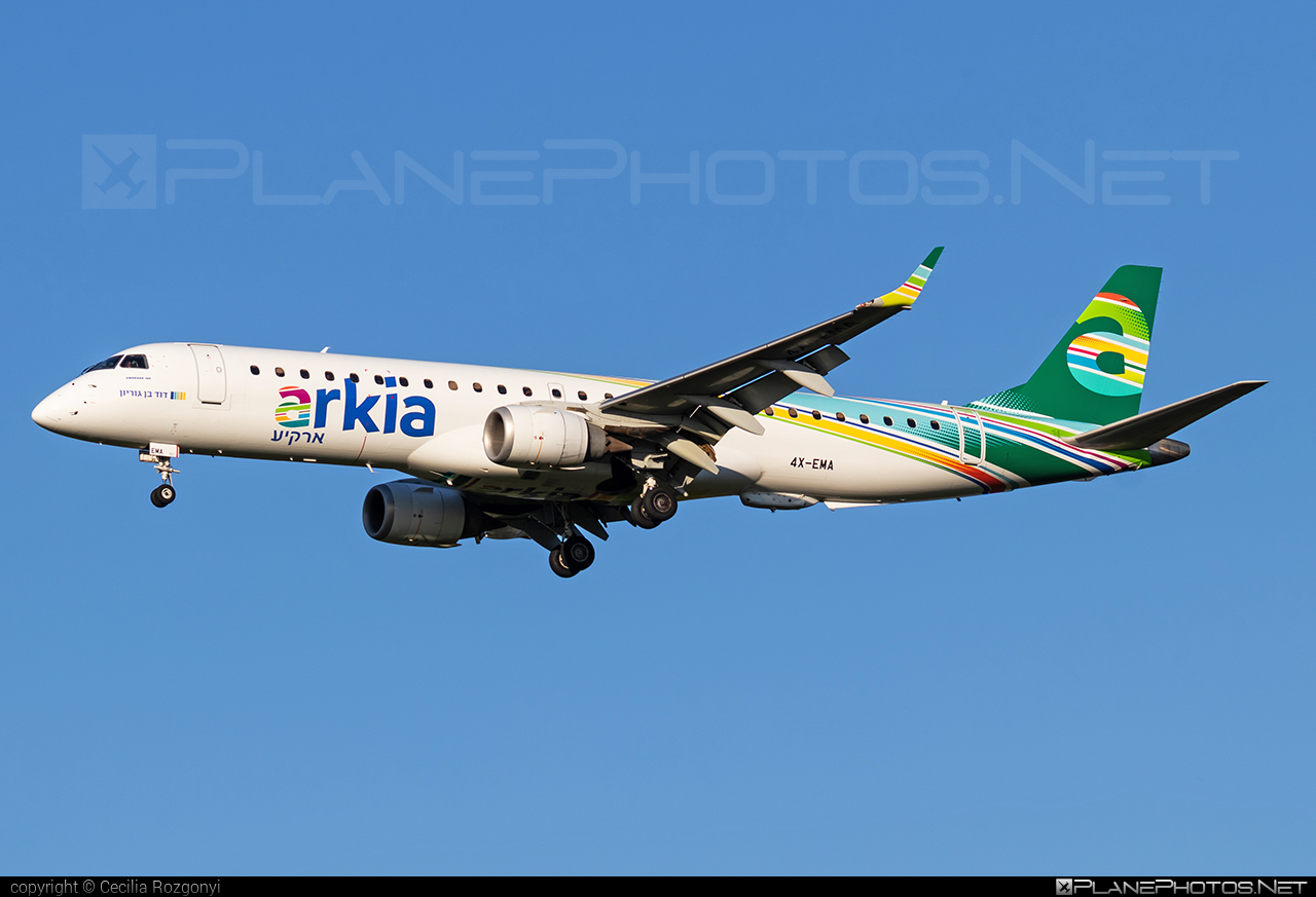Embraer 190-200LR - 4X-EMA operated by Arkia Israeli Airlines #e195 #embraer #embraer195 #embraer195lr