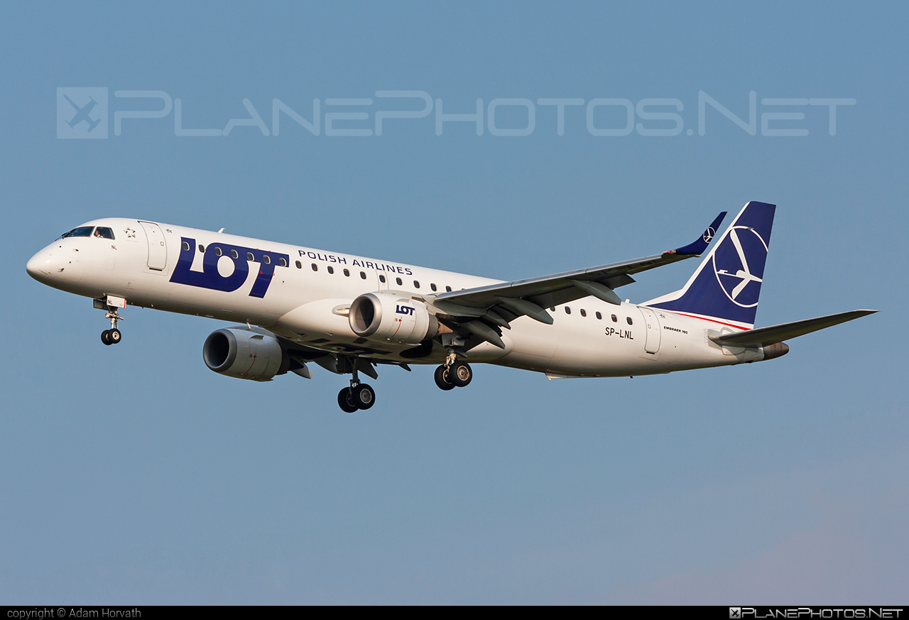 Embraer E195LR (ERJ-190-200LR) - SP-LNL operated by LOT Polish Airlines #e190 #e190200 #e190200lr #e195lr #embraer #embraer190200lr #embraer195 #embraer195lr #lot #lotpolishairlines