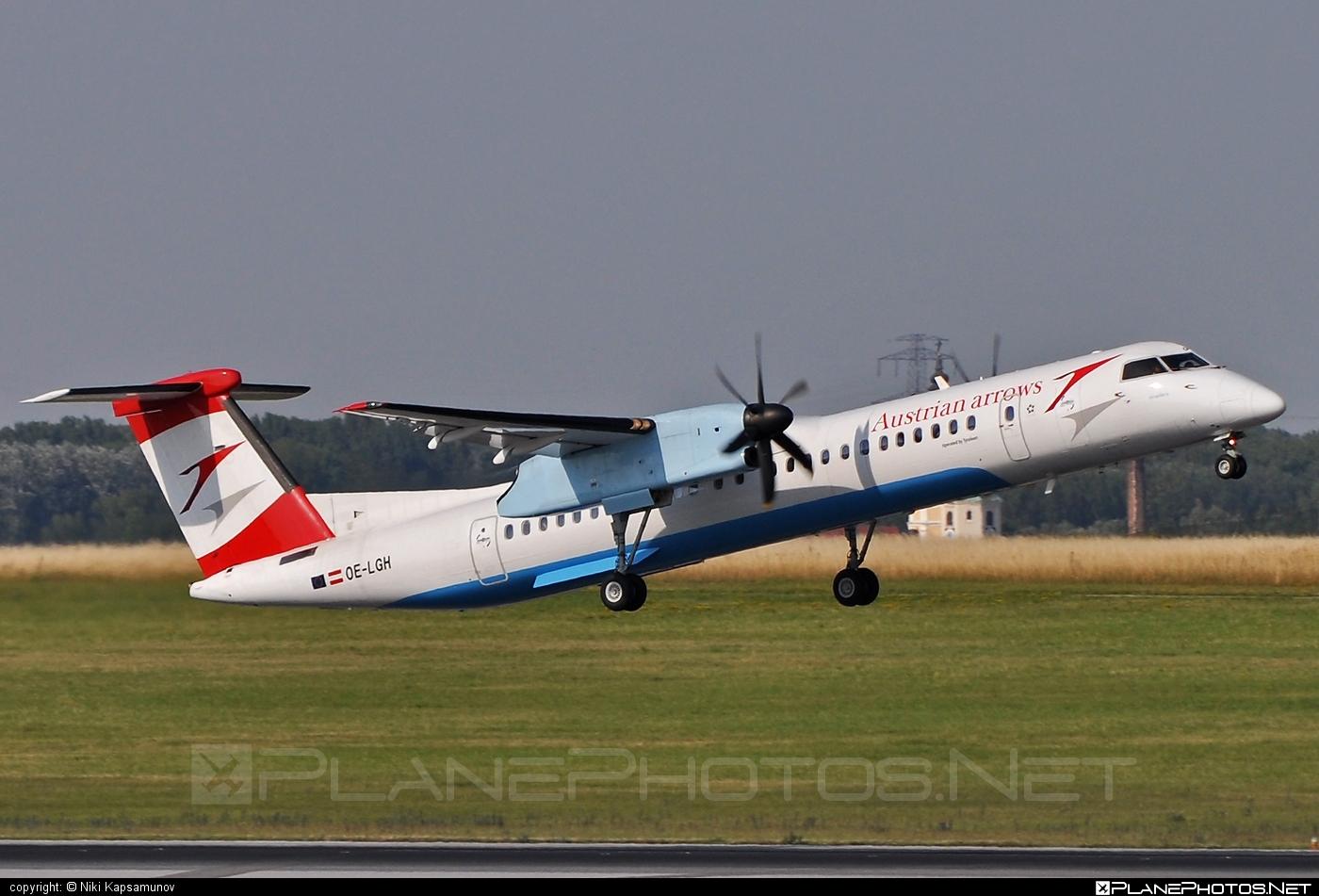 Bombardier DHC-8-Q402 Dash 8 - OE-LGH operated by Austrian arrows (Tyrolean Airways) #bombardier #dash8 #dhc8 #dhc8q402