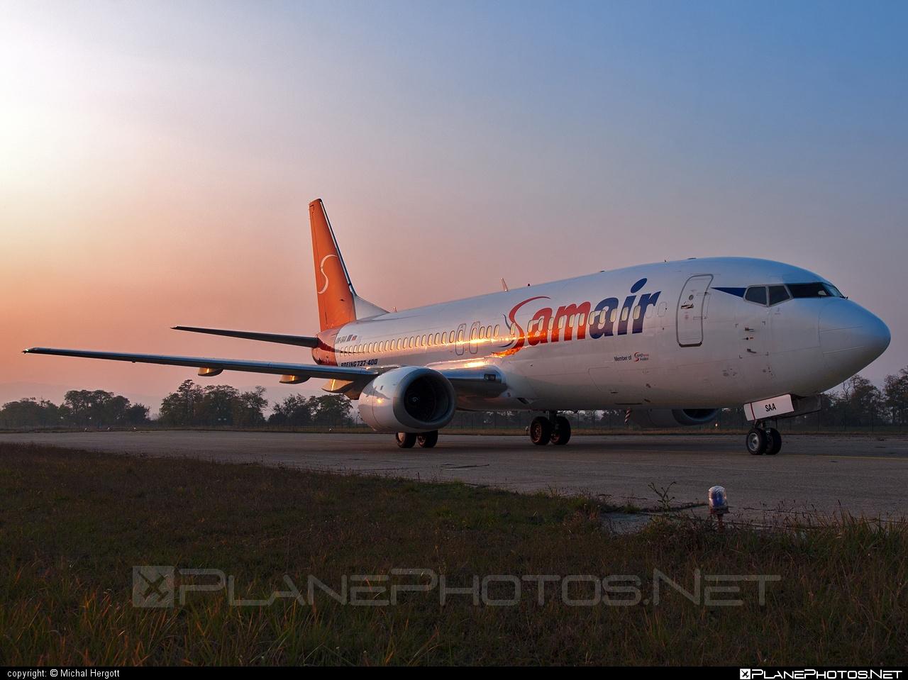 Boeing 737-400 - OM-SAA operated by Samair #b737 #boeing #boeing737