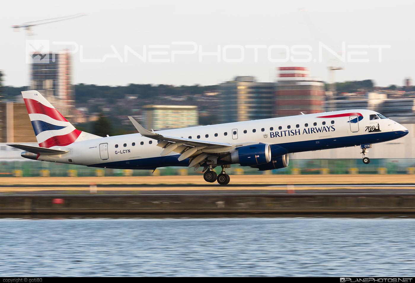Embraer E190SR (ERJ-190-100SR) - G-LCYN operated by BA CityFlyer #e190 #e190100 #e190100sr #e190sr #embraer #embraer190 #embraer190100sr #embraer190sr