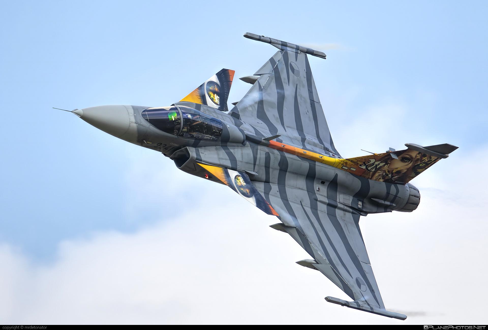 Saab JAS 39C Gripen - 9241 operated by Vzdušné síly AČR (Czech Air Force) #czechairforce #gripen #jas39 #jas39c #jas39gripen #natodays #natodays2018 #saab #vzdusnesilyacr