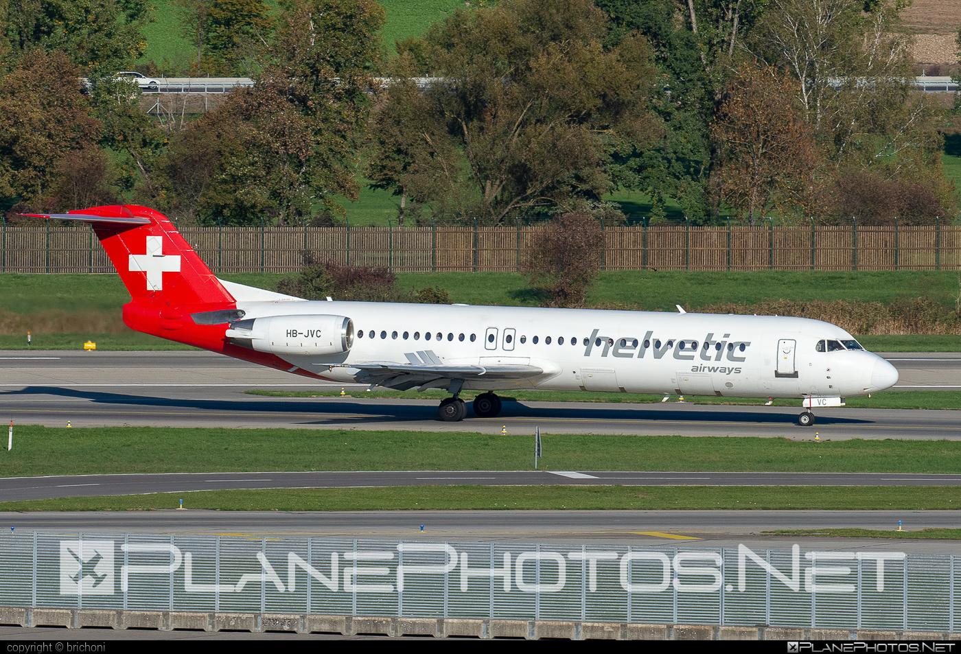 Fokker 100 - HB-JVC operated by Helvetic Airways #fokker