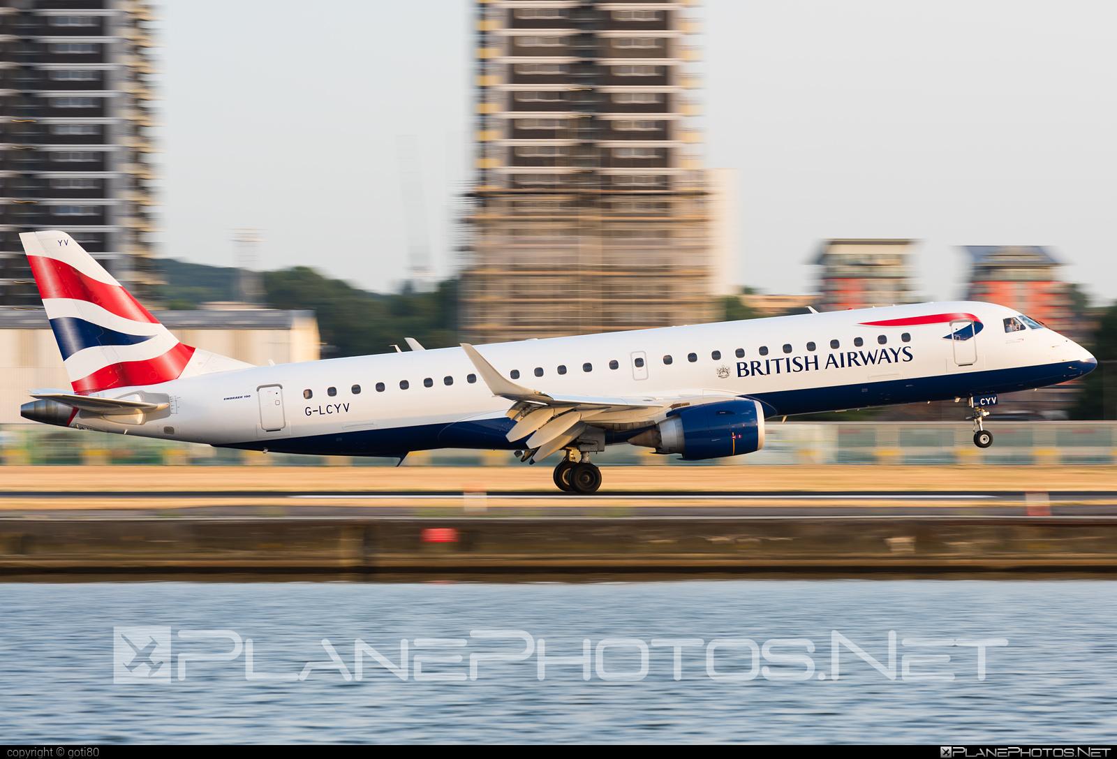 Embraer E190SR (ERJ-190-100SR) - G-LCYV operated by BA CityFlyer #e190 #e190100 #e190100sr #e190sr #embraer #embraer190 #embraer190100sr #embraer190sr
