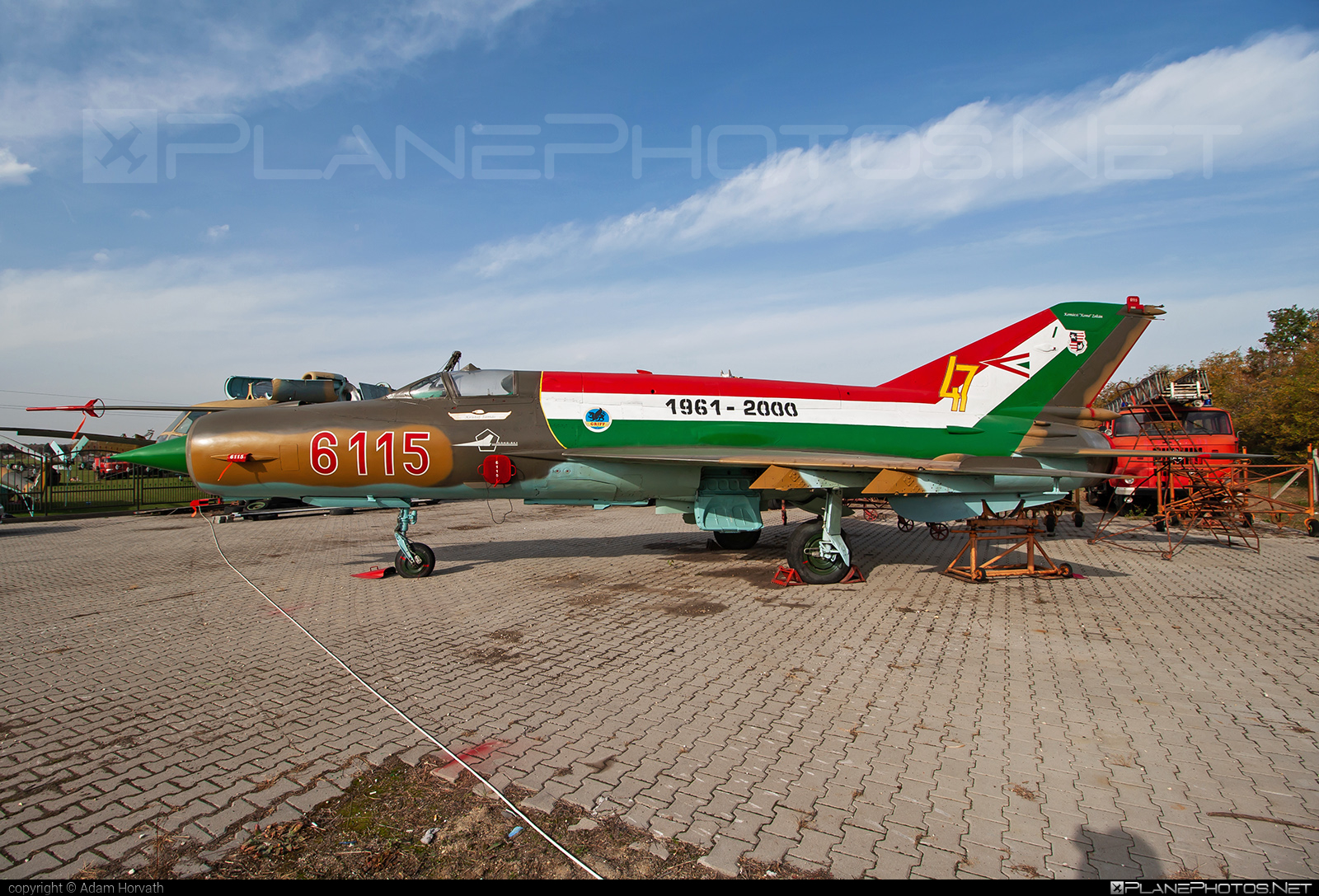 Mikoyan-Gurevich MiG-21bis - 6115 operated by Magyar Légierő (Hungarian Air Force) #hungarianairforce #magyarlegiero #mig #mig21 #mig21bis #mikoyangurevich
