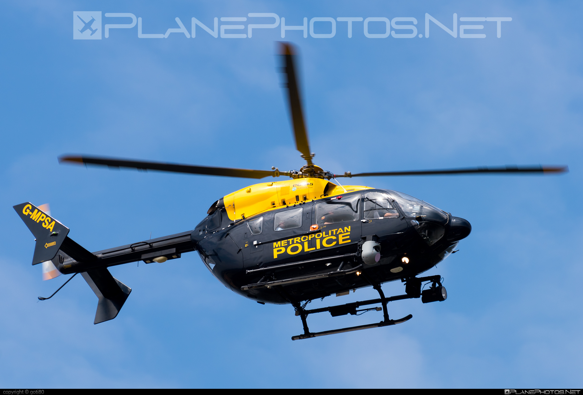Eurocopter EC145 - G-MPSA operated by London Metropolitan Police Service #ec145 #eurocopter #londonmetropolitanpoliceservice #metropolitanpoliceairsupportunit