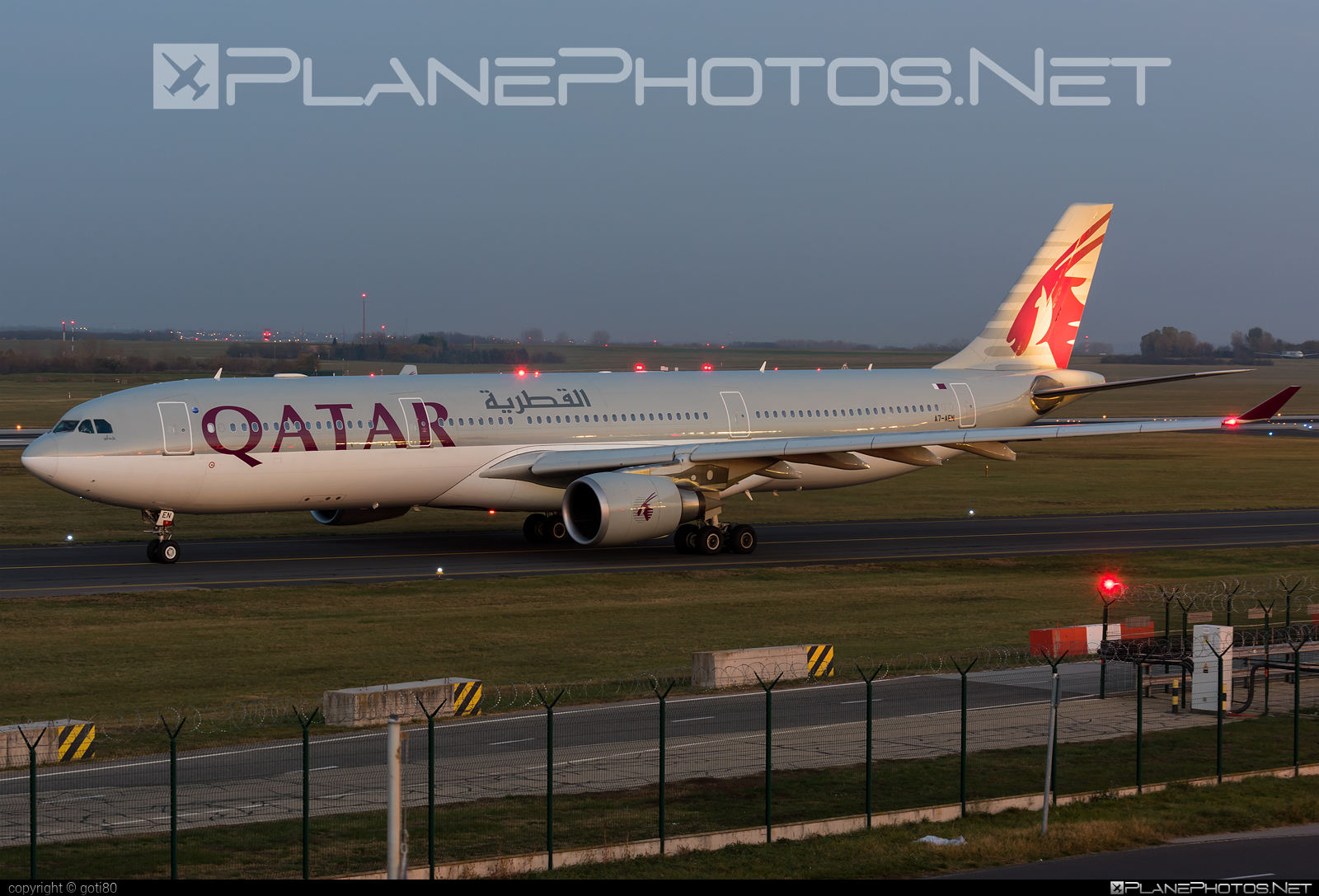 Qatar Airways Airbus A330-302 - A7-AEN #a330 #a330family #airbus #airbus330 #qatarairways
