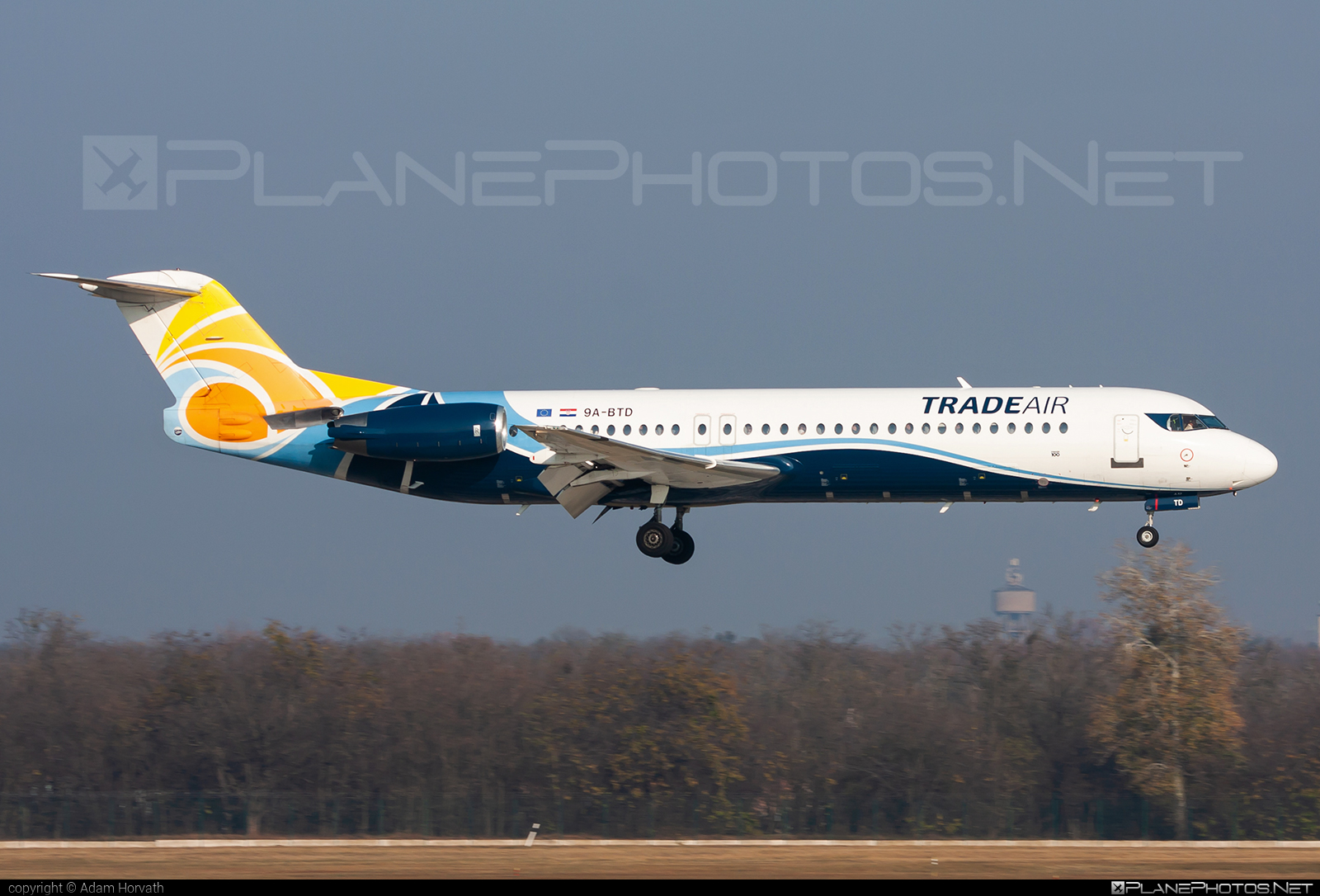 Fokker 100 - 9A-BTD operated by Trade Air #fokker