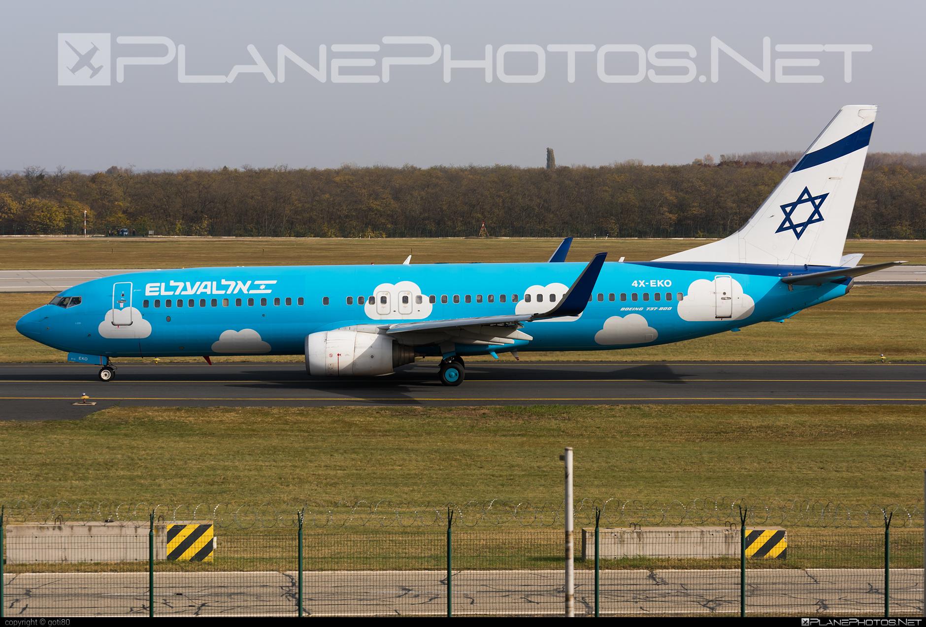 Boeing 737-800 - 4X-EKO operated by El Al Israel Airlines #b737 #b737nextgen #b737ng #boeing #boeing737 #elal #elalisraelairlines #israelairlines