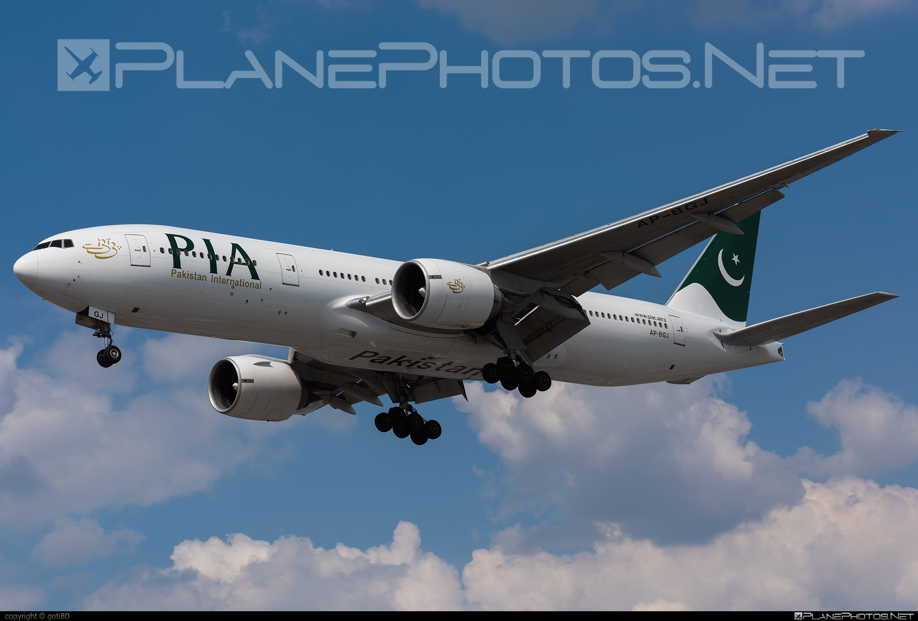 Boeing 777-200ER - AP-BGJ operated by Pakistan International Airlines (PIA) #b777 #b777er #boeing #boeing777 #tripleseven