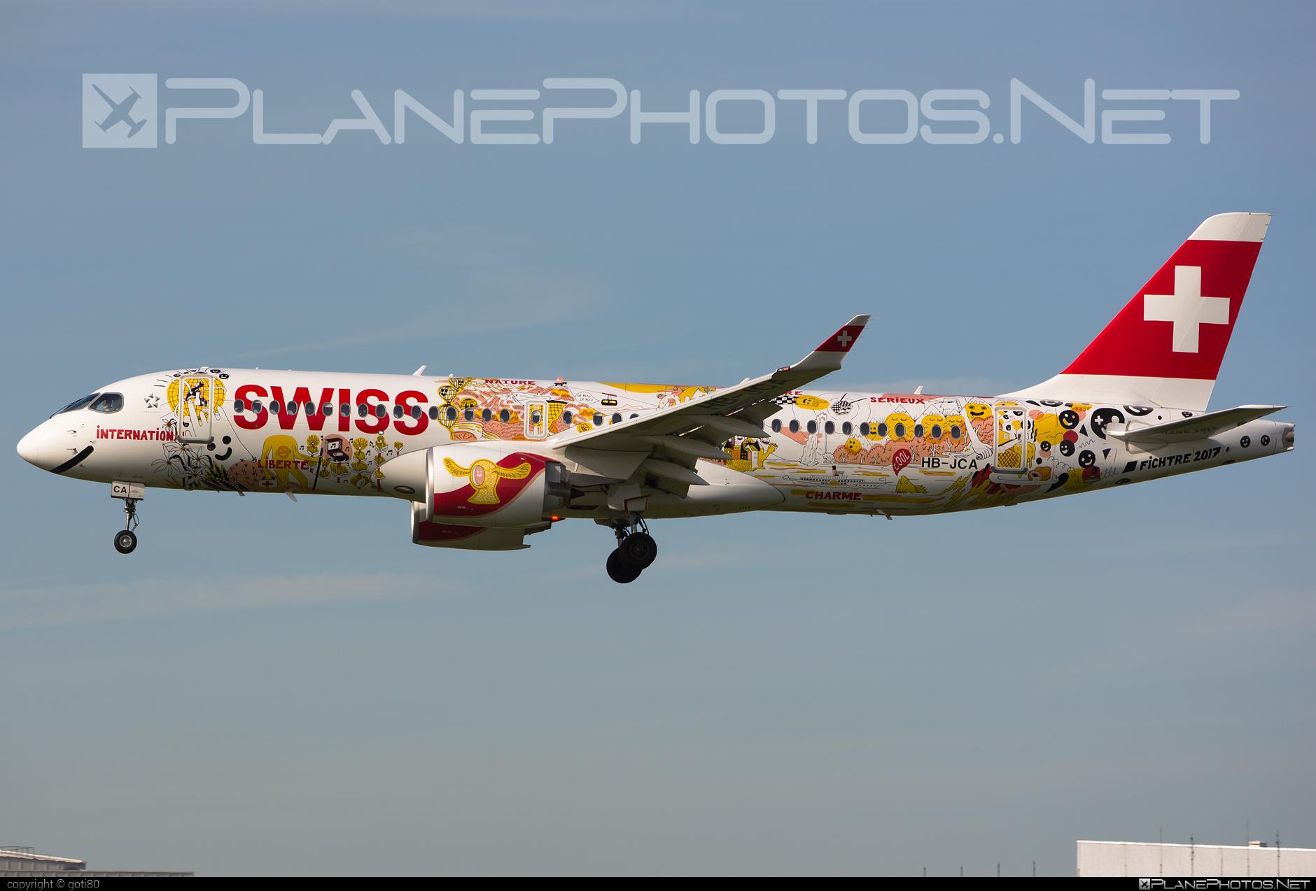 Bombardier BD-500-1A11 C Series CS300 - HB-JCA operated by Swiss International Air Lines #bombardier #cs300 #cseries #cseries300 #swiss #swissairlines