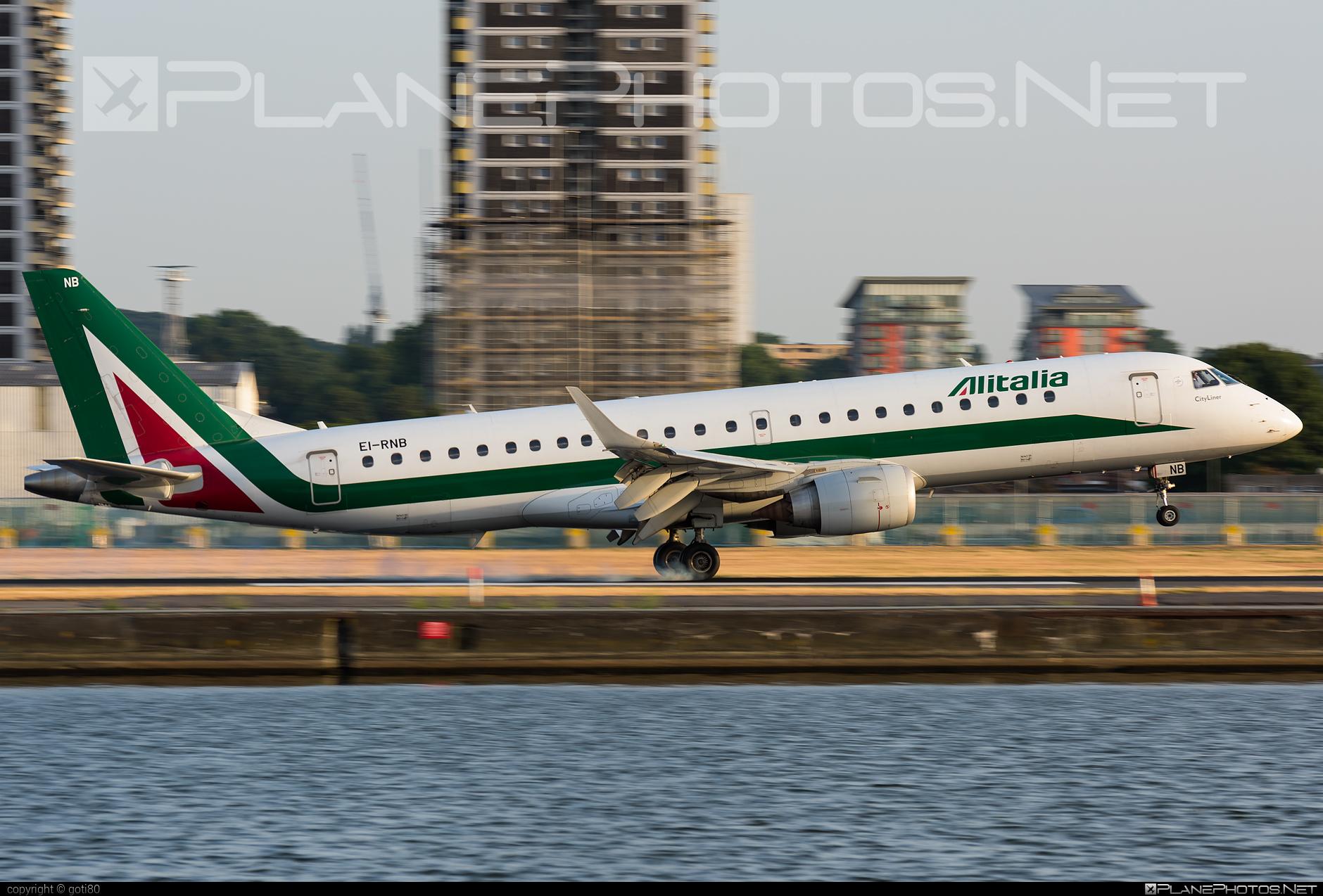 Embraer E190STD (ERJ-190-100STD) - EI-RNB operated by Alitalia CityLiner #e190 #e190100 #e190100std #e190std #embraer #embraer190 #embraer190100std #embraer190std