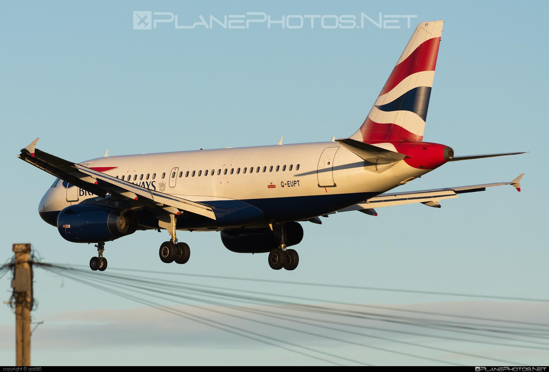 British Airways Airbus A319-131 - G-EUPT #a319 #a320family #airbus #airbus319 #britishairways