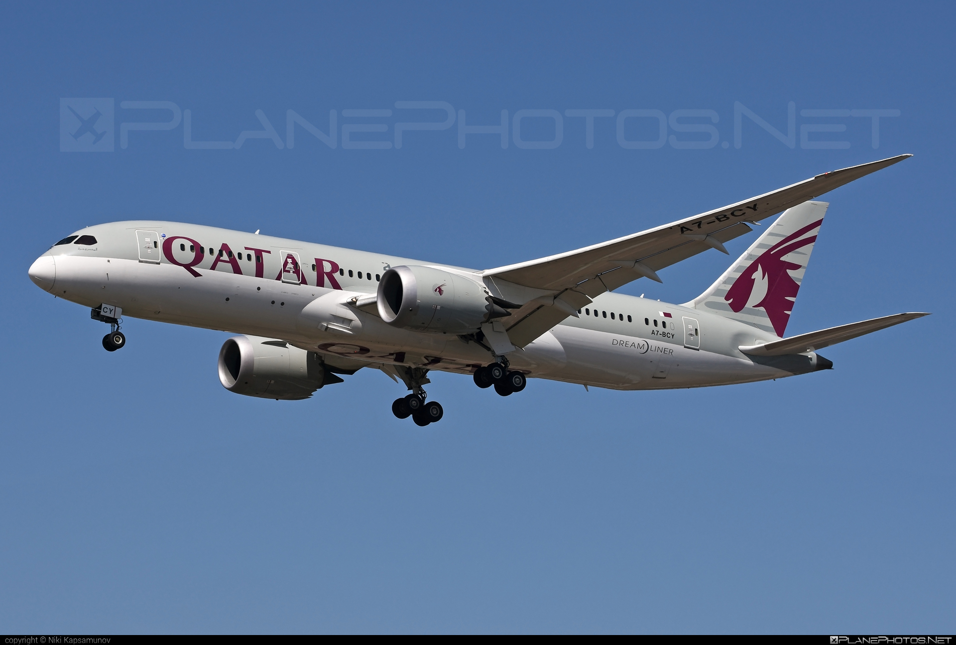 Boeing 787-8 Dreamliner - A7-BCY operated by Qatar Airways #b787 #boeing #boeing787 #dreamliner #qatarairways