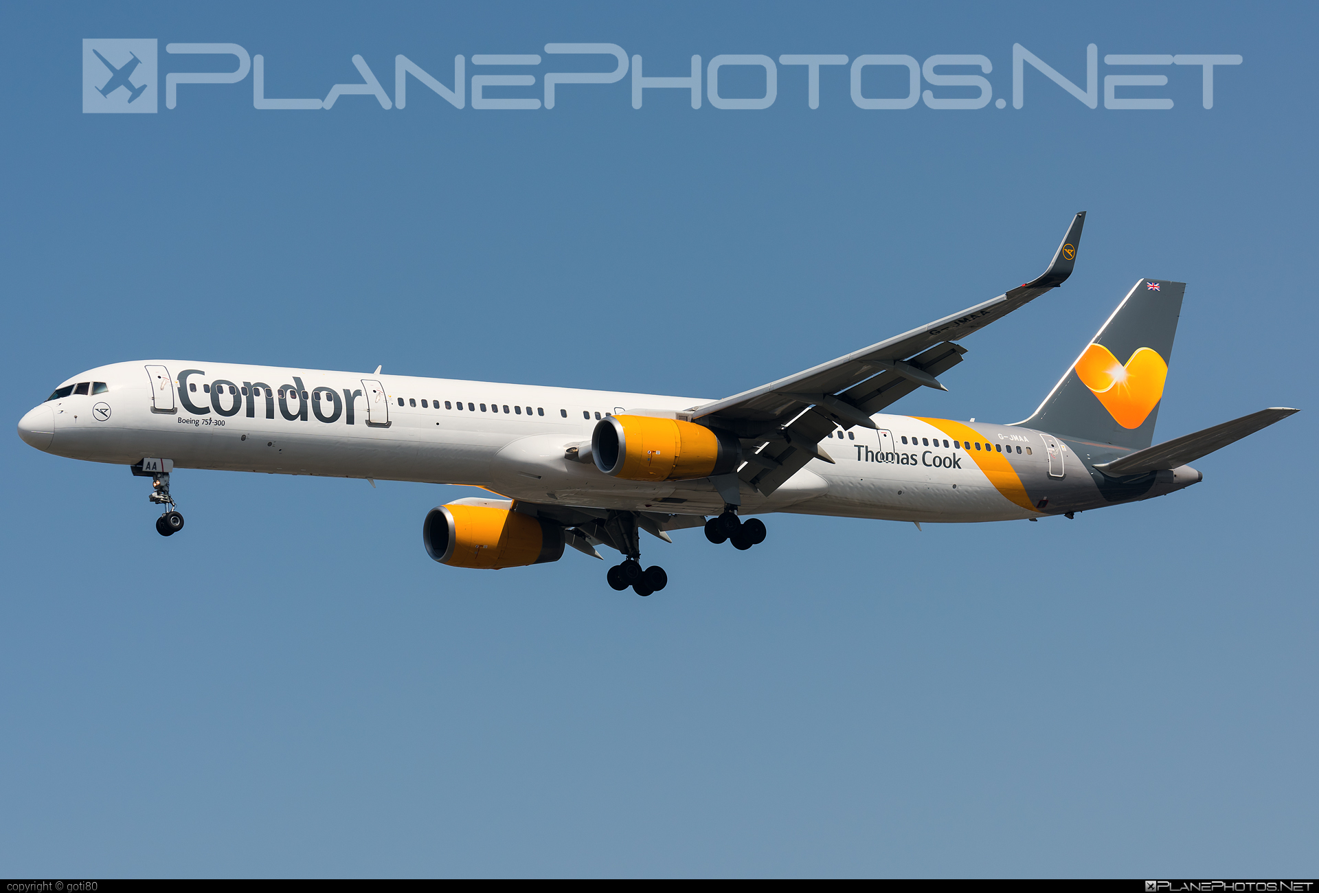 Boeing 757-300 - G-JMAA operated by Thomas Cook Airlines #b757 #boeing #boeing757