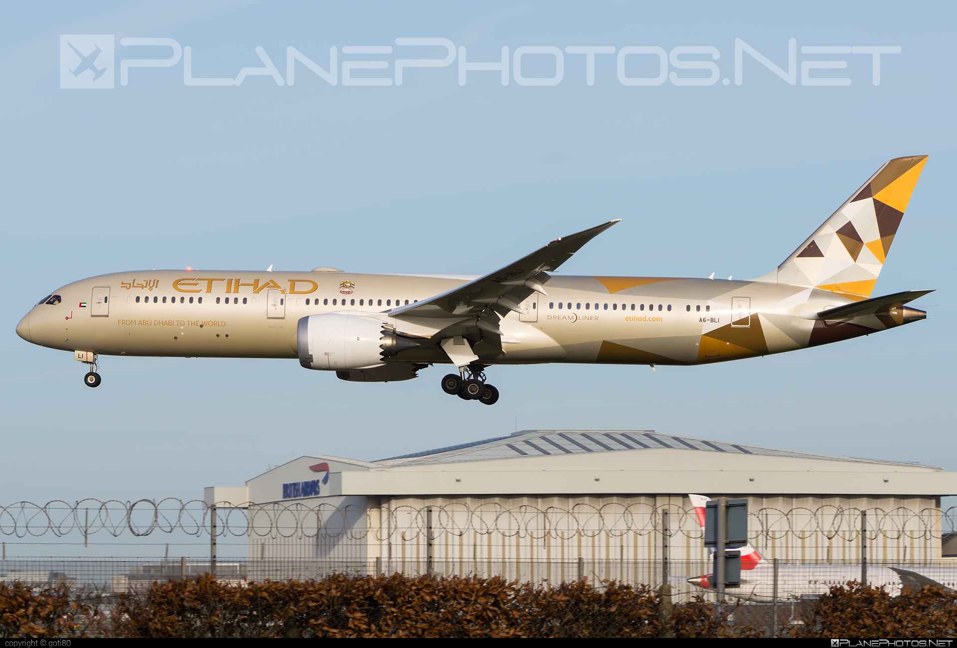 Boeing 787-9 Dreamliner - A6-BLI operated by Etihad Airways #b787 #boeing #boeing787 #dreamliner #etihad #etihadairways