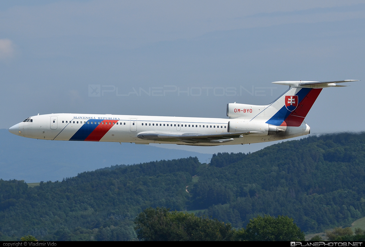 Tupolev Tu-154M - OM-BYO operated by Letecký útvar MV SR (Slovak Government Flying Service) #tu154 #tu154m #tupolev