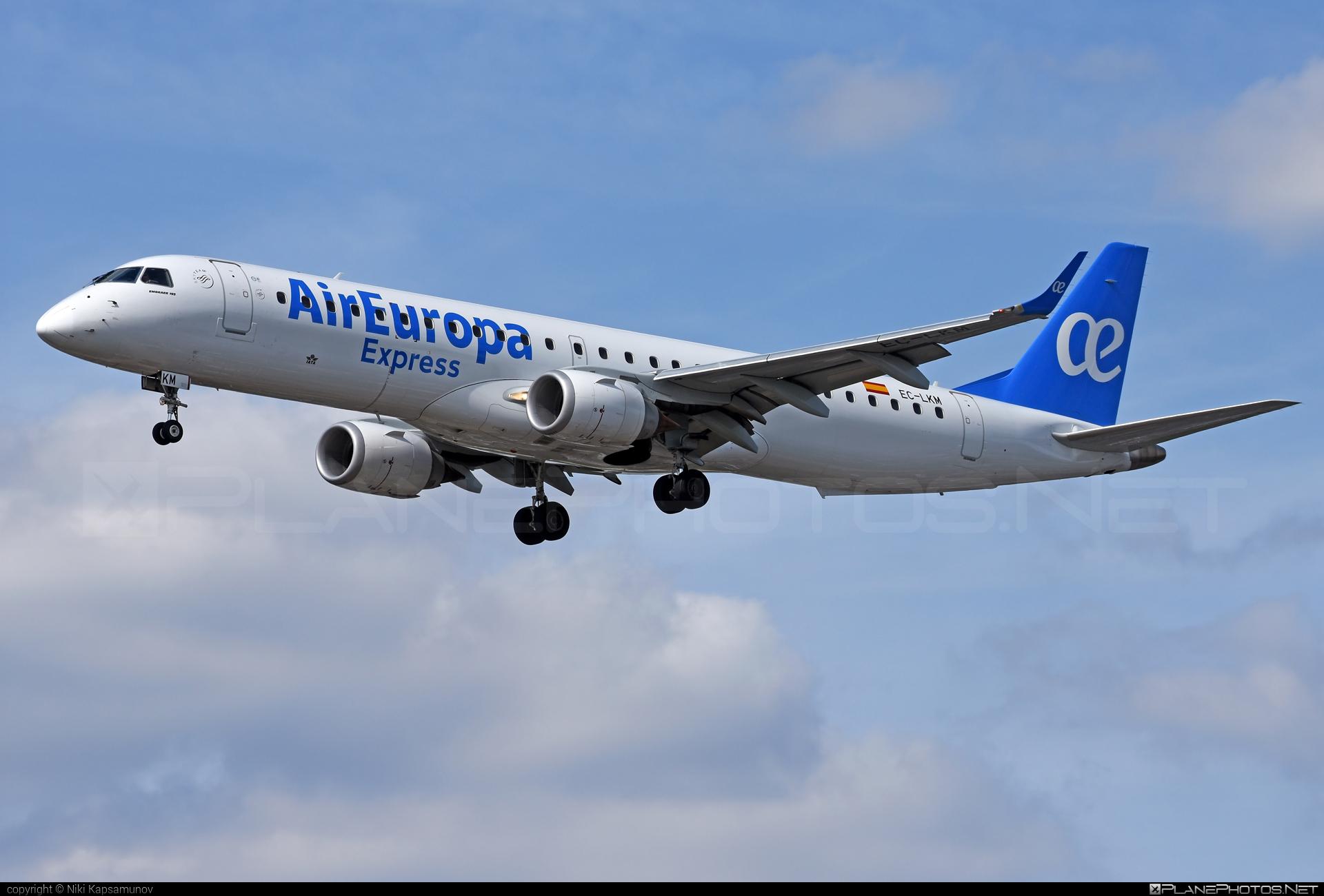 Embraer E195LR (ERJ-190-200LR) - EC-LKM operated by Air Europa Express #e190 #e190200 #e190200lr #e195lr #embraer #embraer190200lr #embraer195 #embraer195lr
