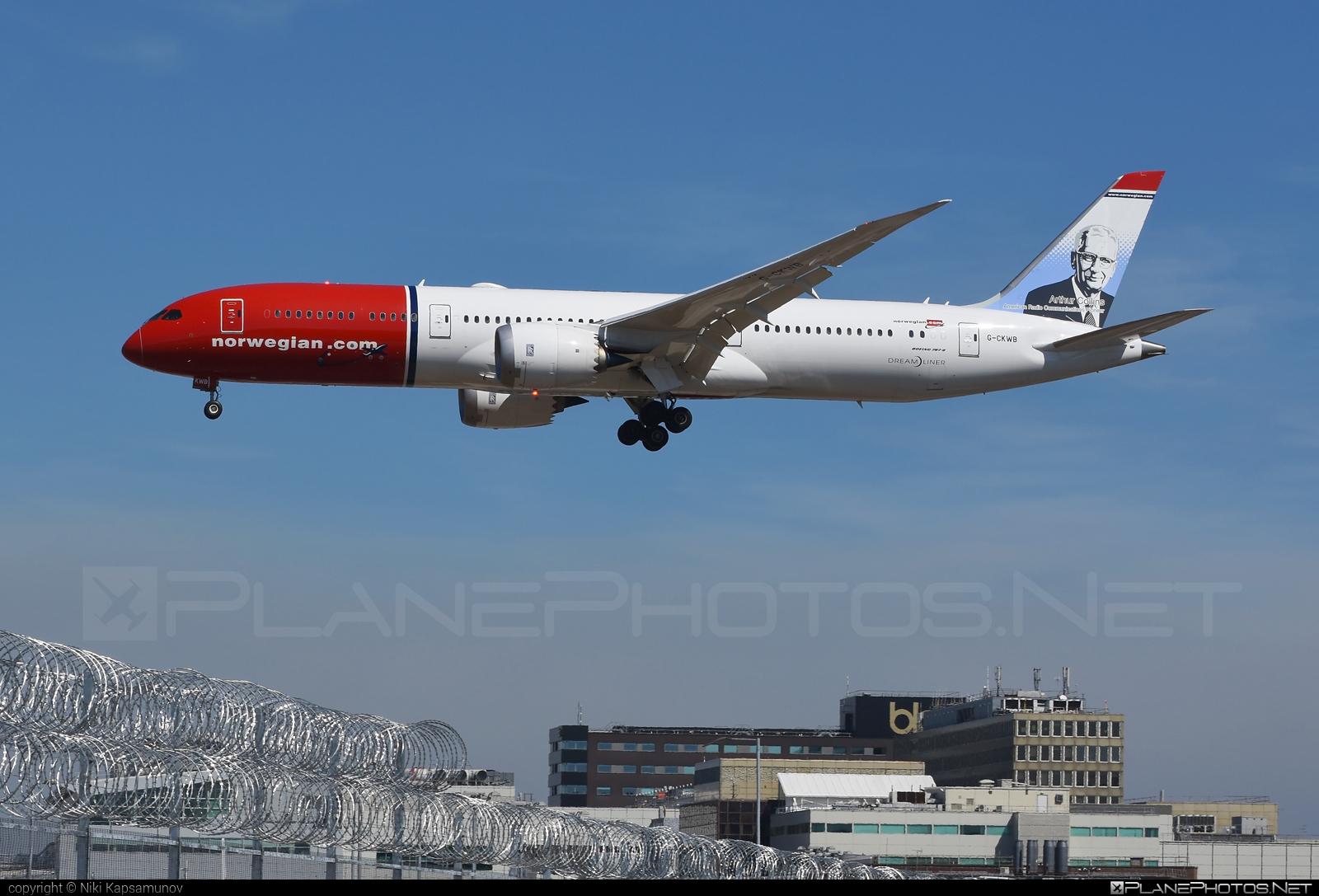 Boeing 787-9 Dreamliner - G-CKWB operated by Norwegian Air UK #b787 #boeing #boeing787 #dreamliner #norwegian #norwegianair #norwegianairuk
