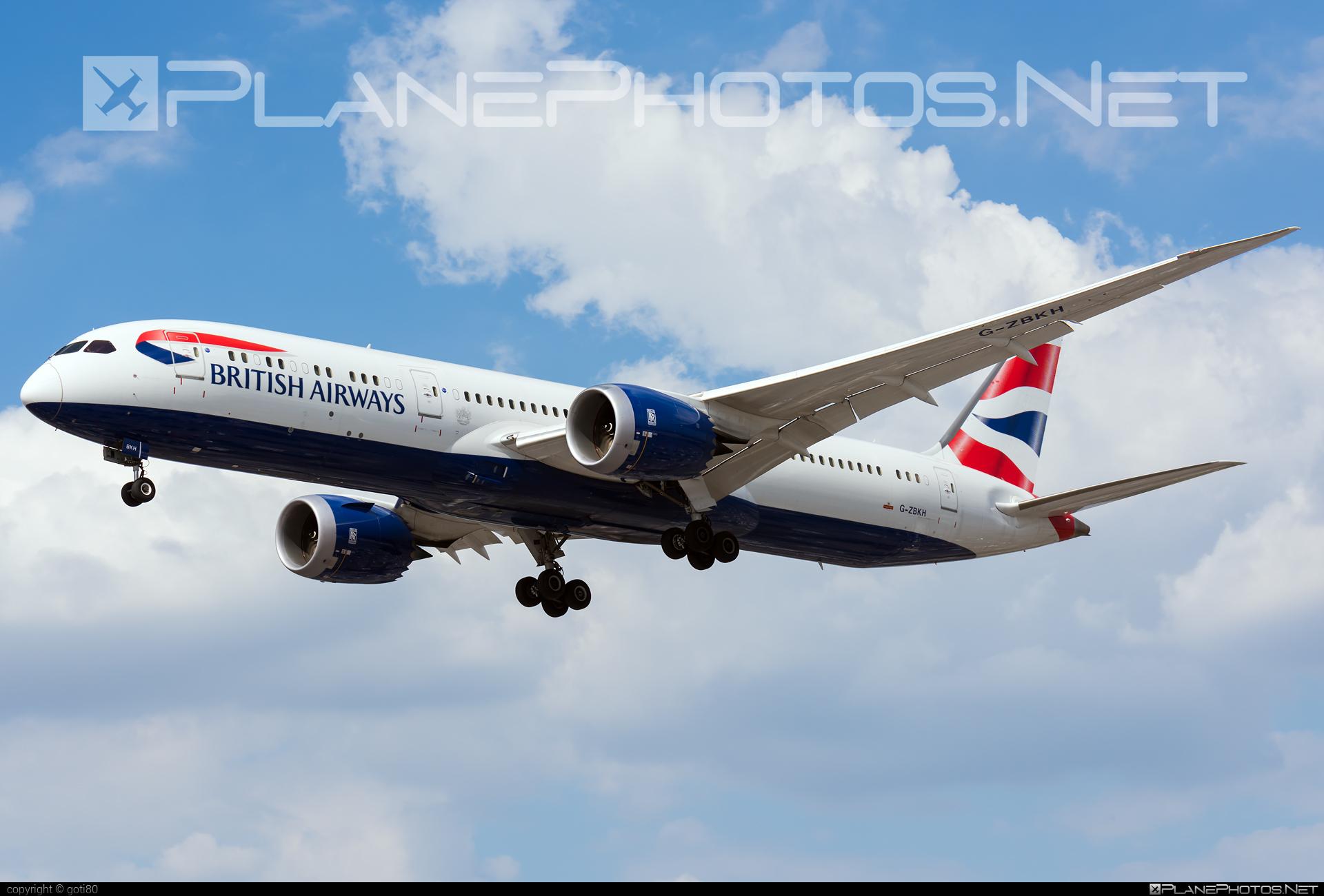 British Airways Boeing 787-9 Dreamliner - G-ZBKH #b787 #boeing #boeing787 #britishairways #dreamliner