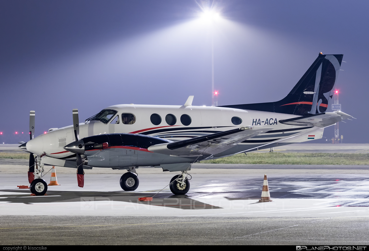 Private operator Beechcraft C90B King Air - HA-ACA #beechcraft