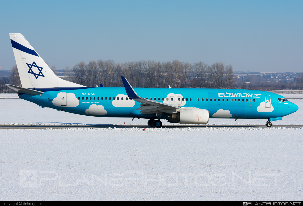 El Al Israel Airlines Boeing 737-800 - 4X-EKU #b737 #b737nextgen #b737ng #boeing #boeing737 #elal #elalisraelairlines #israelairlines