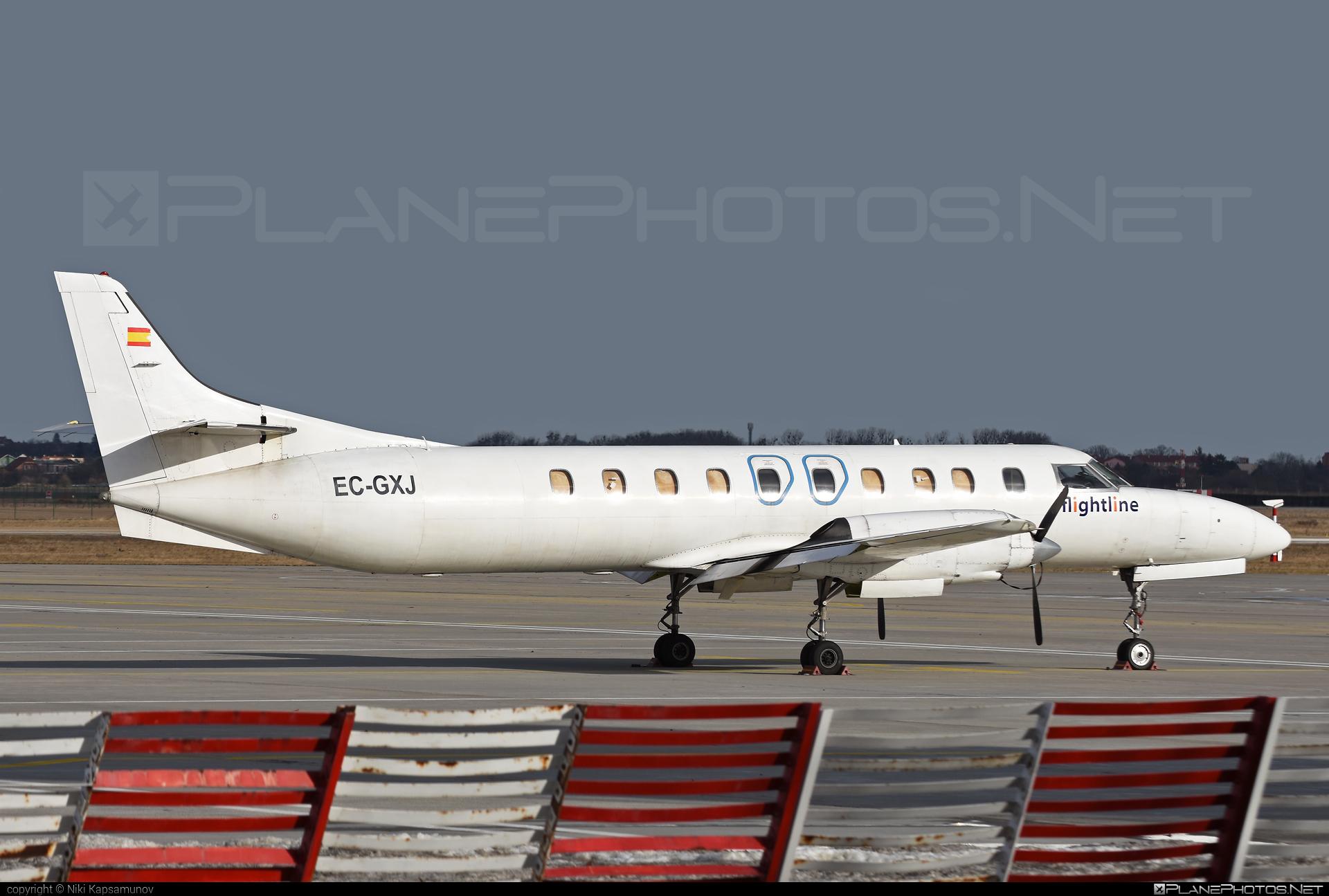 Swearingen SA226-TC Metro II - EC-GXJ operated by Flightline #metro #swearingen