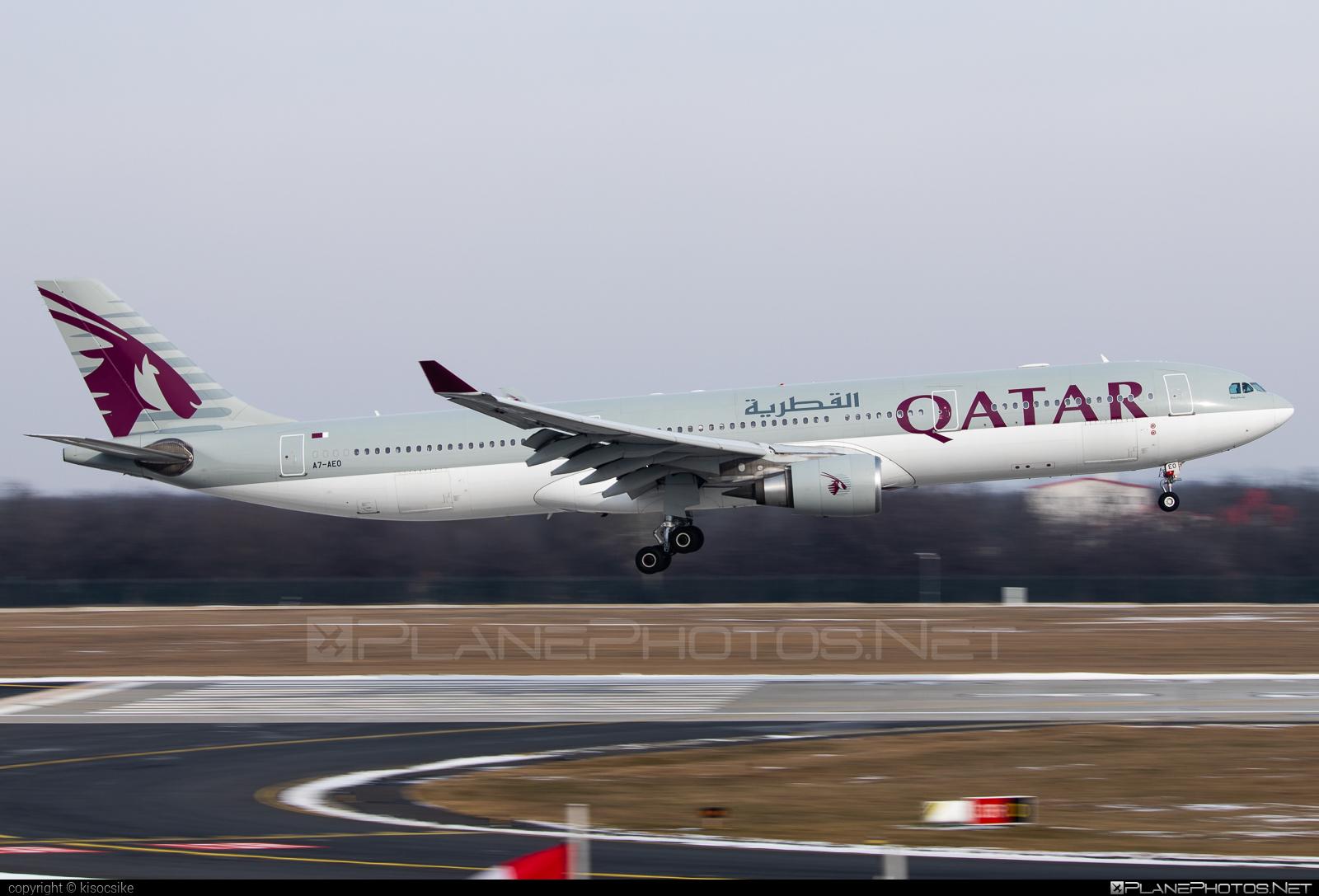 Airbus A330-302 - A7-AEO operated by Qatar Airways #a330 #a330family #airbus #airbus330 #qatarairways