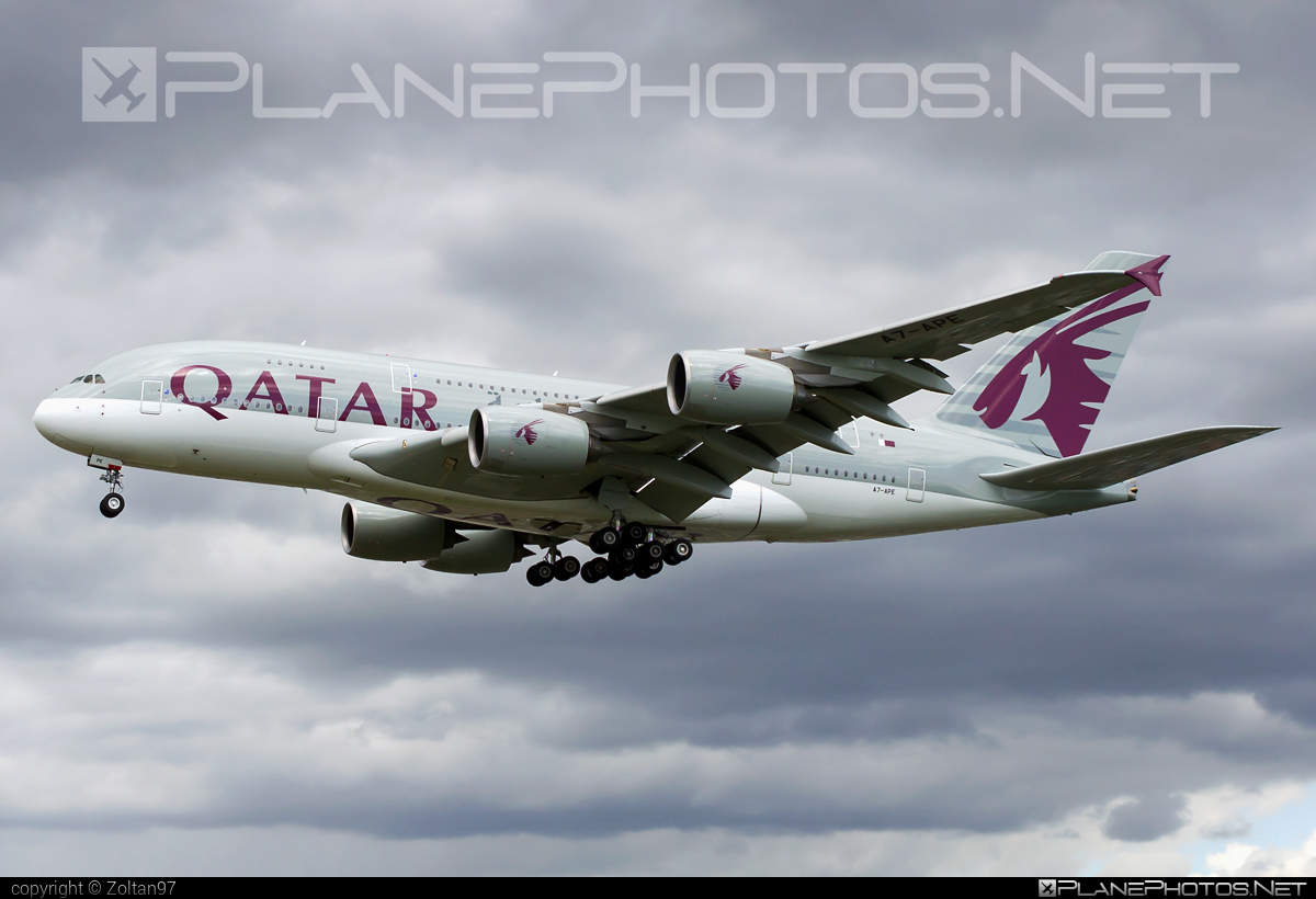 Airbus A380-861 - A7-APE operated by Qatar Airways #a380 #a380family #airbus #airbus380 #qatarairways
