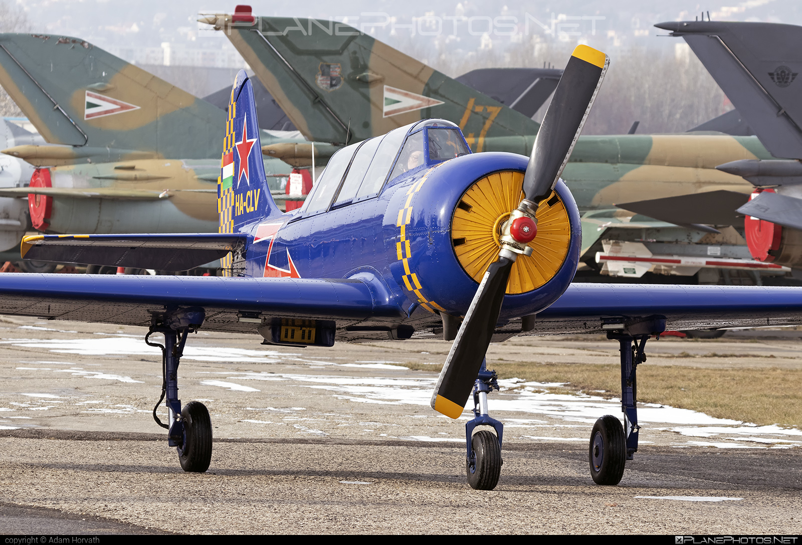 Aerostar Iak-52 - HA-CLV operated by Private operator #iak52 #yak52