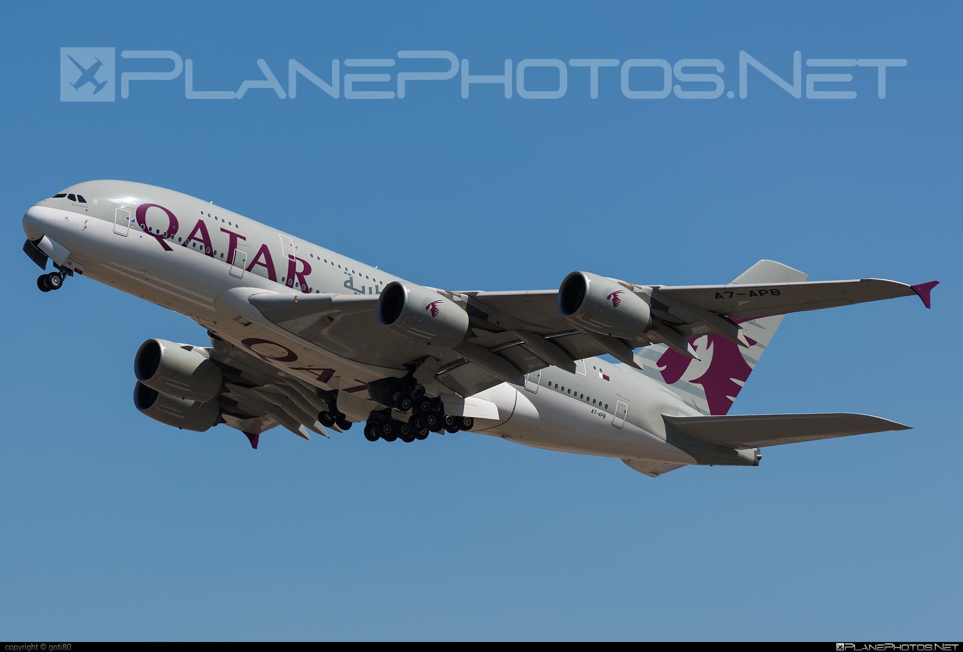 Airbus A380-861 - A7-APB operated by Qatar Airways #a380 #a380family #airbus #airbus380 #qatarairways