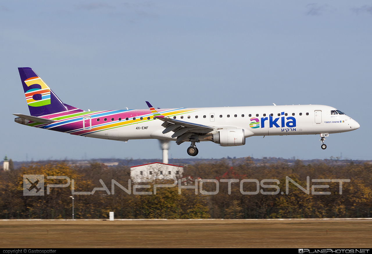 Arkia Israeli Airlines Embraer 190-200IGW - 4X-EMF #e195 #embraer #embraer195 #embraer195igw