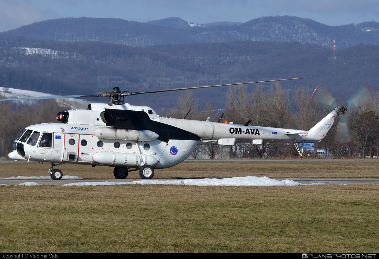 Mil Mi-8MTV - OM-AVA operated by UTair Europe #mil #milhelicopters #utair #utaireurope
