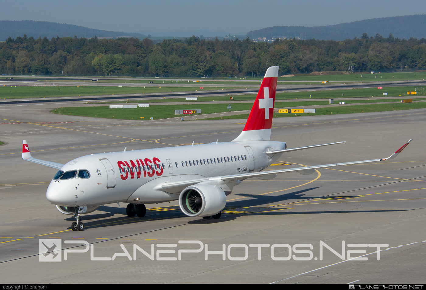 Swiss Global Air Lines Bombardier BD-500-1A10 C Series CS100 - HB-JBH #bombardier #cs100 #cseries #cseries100