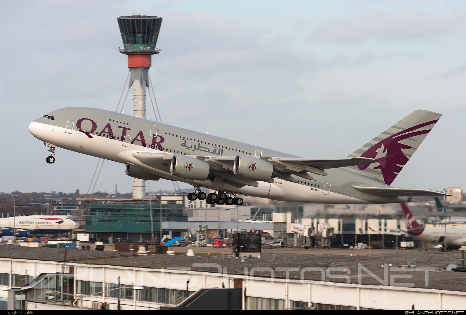 Airbus A380-861 - A7-APG operated by Qatar Airways #a380 #a380family #airbus #airbus380 #qatarairways