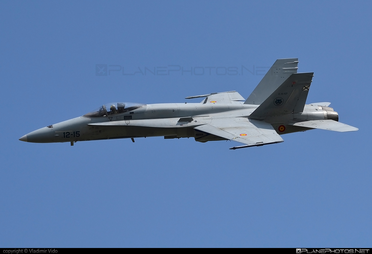 McDonnell Douglas EF-18A+ Hornet - C.15-57 operated by Ejército del Aire (Spanish Air Force) #ef18a #ejercitodelaire #f18 #f18hornet #mcdonnelldouglas #spanishairforce
