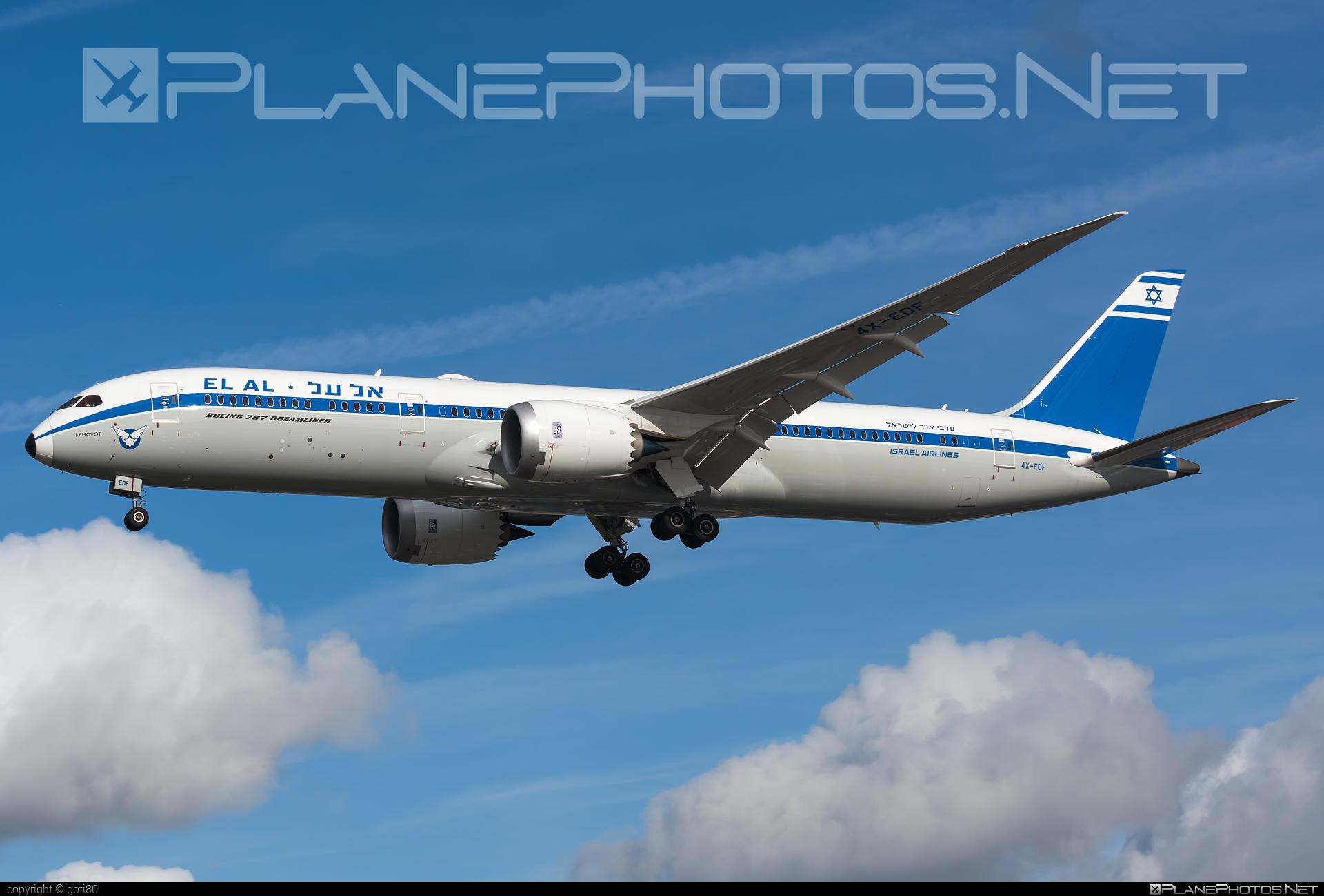Boeing 787-9 Dreamliner - 4X-EDF operated by El Al Israel Airlines #b787 #boeing #boeing787 #dreamliner #elal #elalisraelairlines #israelairlines