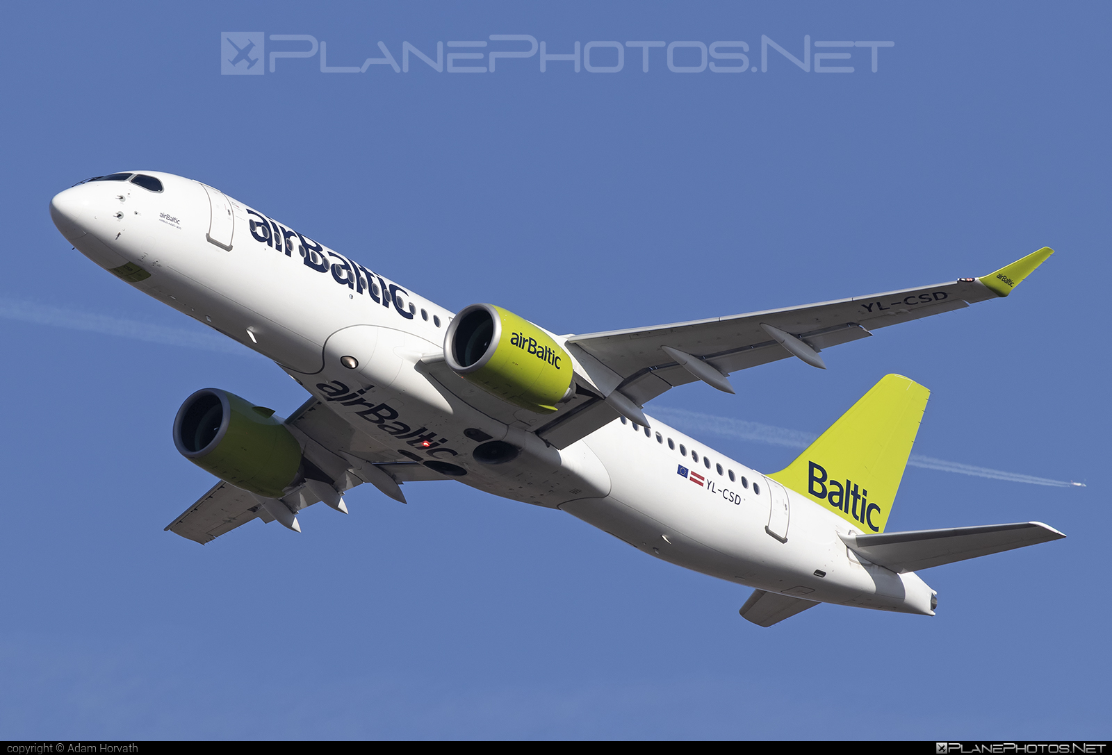 Bombardier BD-500-1A11 C Series CS300 - YL-CSD operated by Air Baltic #airbaltic #bombardier #cs300 #cseries #cseries300